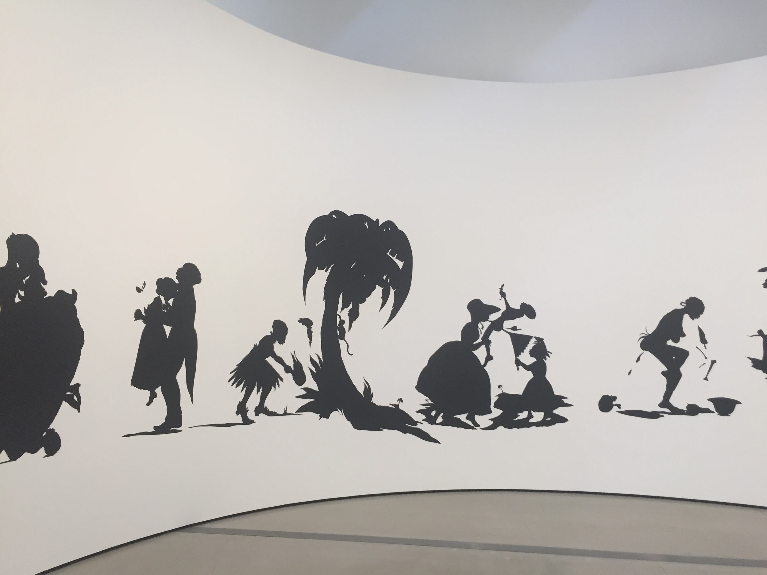 Picture I took at The Broad Museum in Los Angeles of Kara Walker's work.