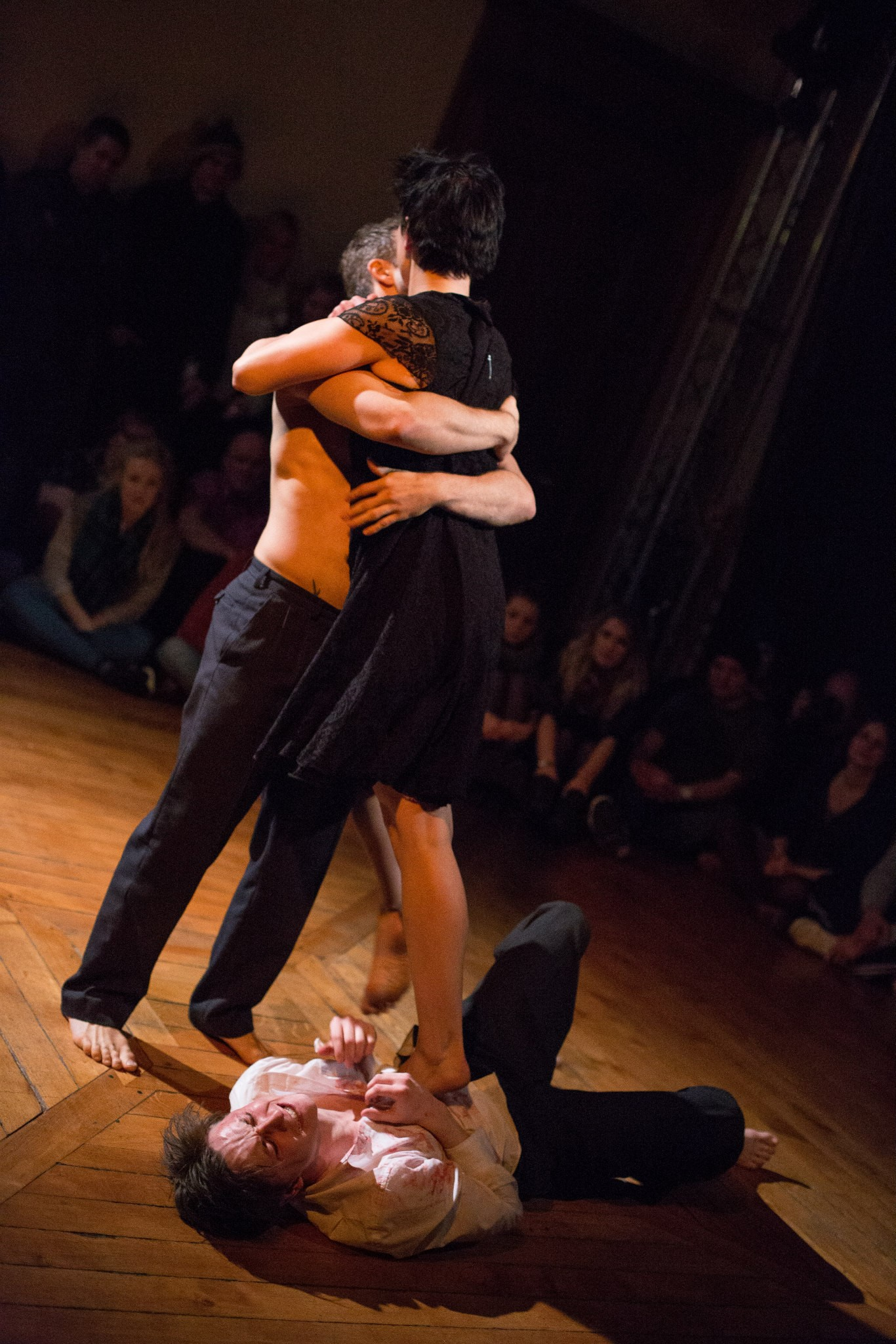 Dancer: Vince Virr, Lisa Hood & Joseph Reay-Reid Photo: Sid Scott