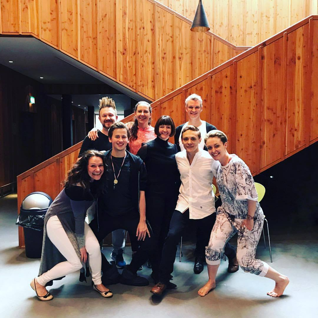 Thomas with mentors Kerry Nicholls and Christopher Hampson as part of Scottish Ballet Creates alongside fellow choreographers. Photo by Scottish Ballet.
