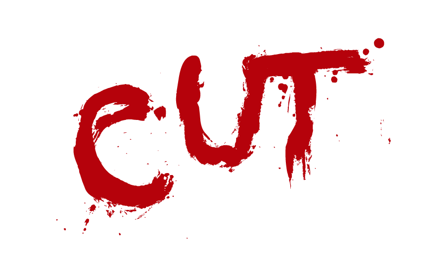 CUT logo - Red text on transparent background PNG file