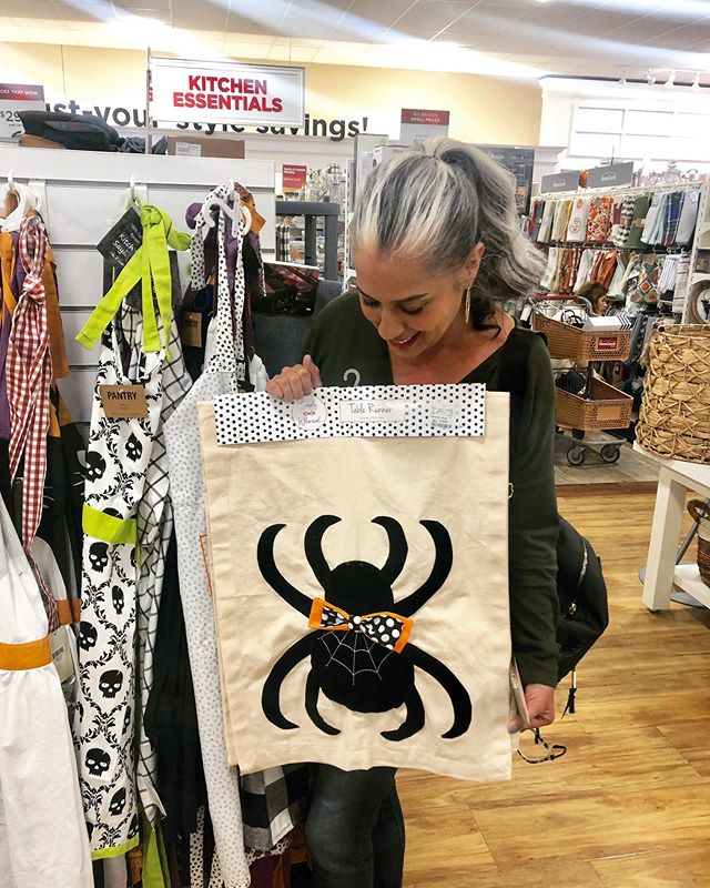 always so surreal when we see our products in one of our favorite stores, @homegoods ! You can find our Halloween runners at your local Home Goods store 🎃🕷