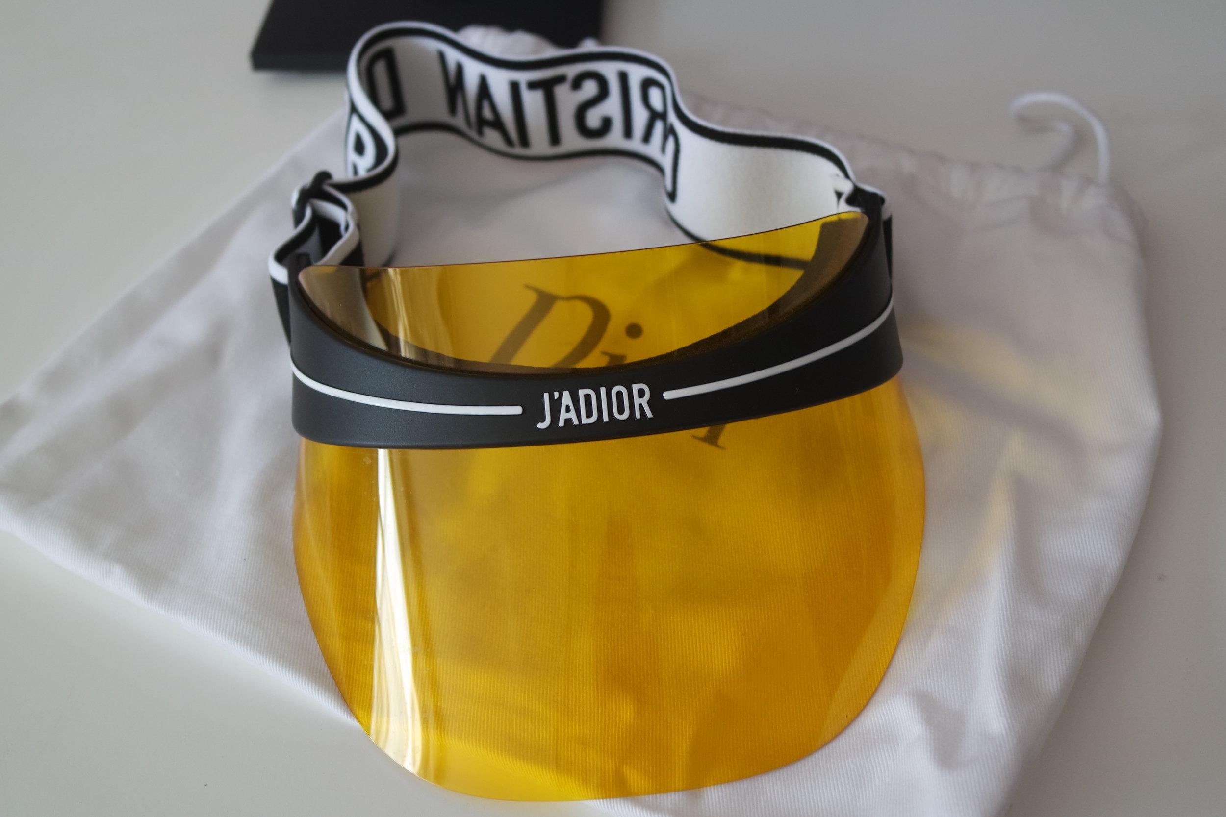 294d13723ac4a9 Dior Club 1 Yellow Visor Sunglasses — Designer Daydream