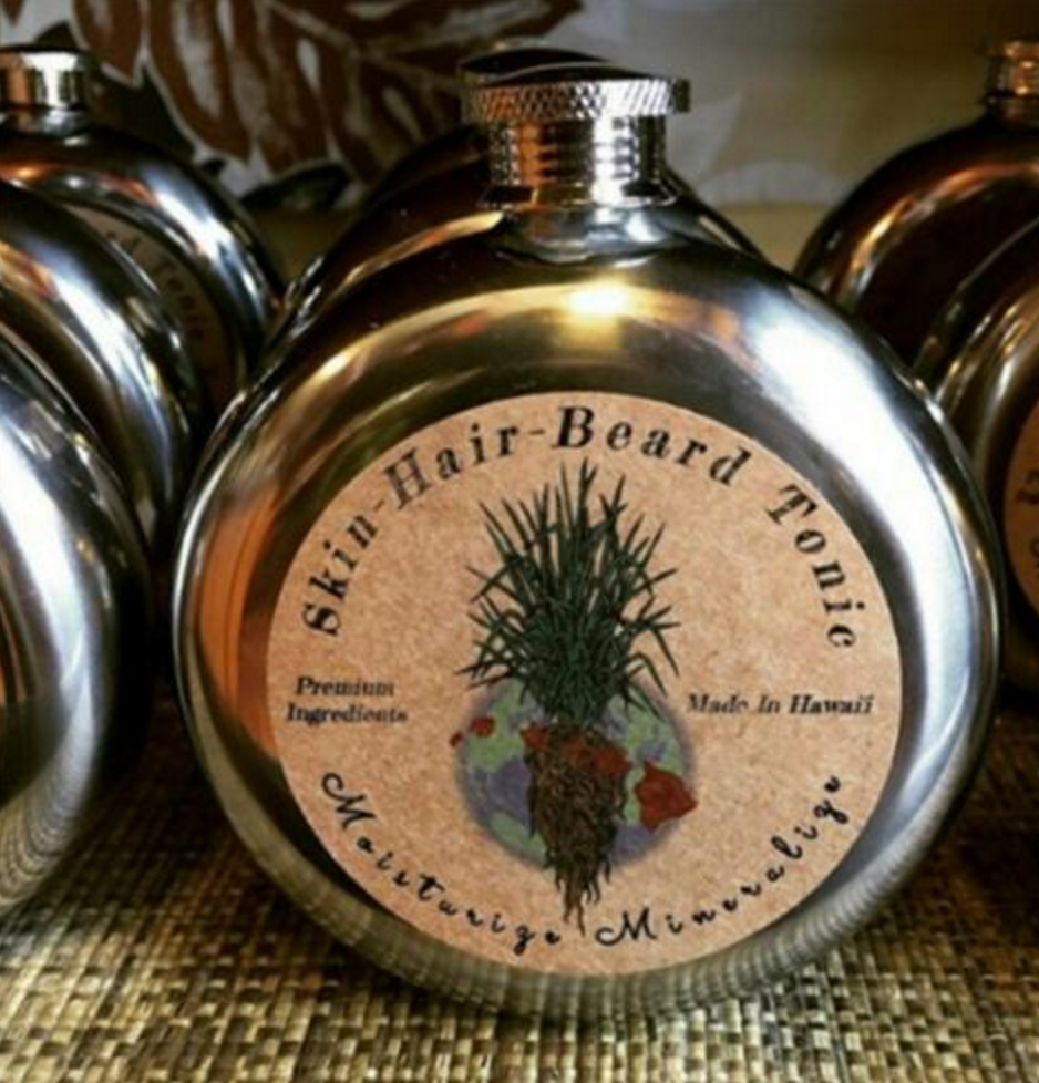 Skin, Hair & Beard Tonic - Nourish your cells, tame your mane and smell like an aphrodisiac. This tonic has our Hawai'i Vetiver, organic cedar, Organic Aloe and pure magnesium in a base of organic fractionated coco oil.