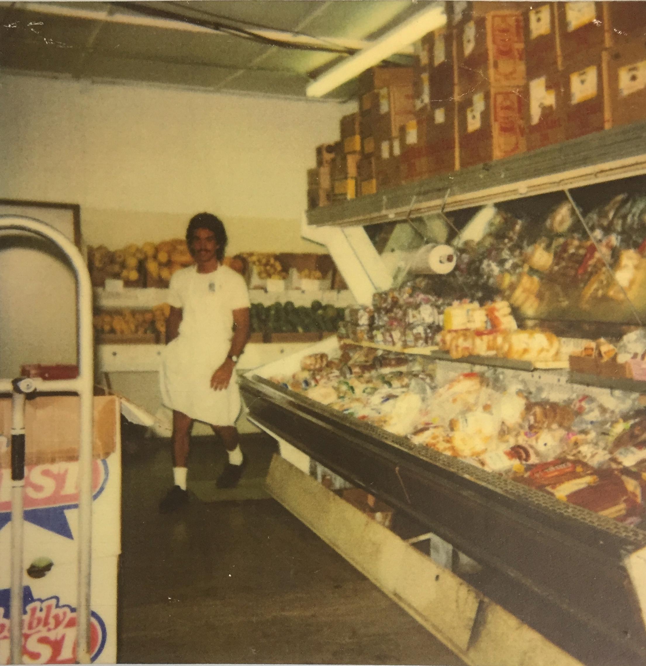 Ed Thielk at Mana Foods in 1988