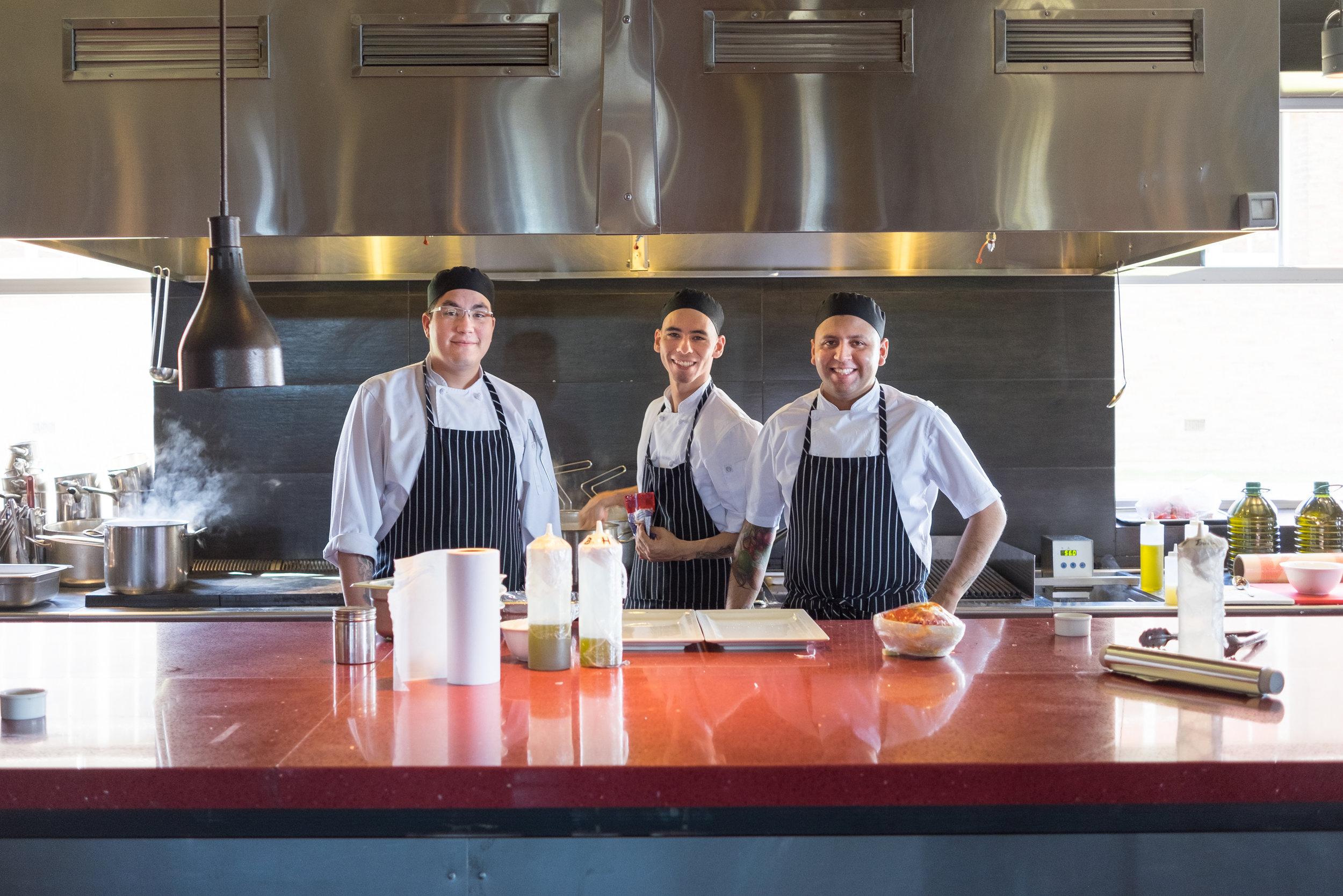 Friendly chefs at The Singular restaurant