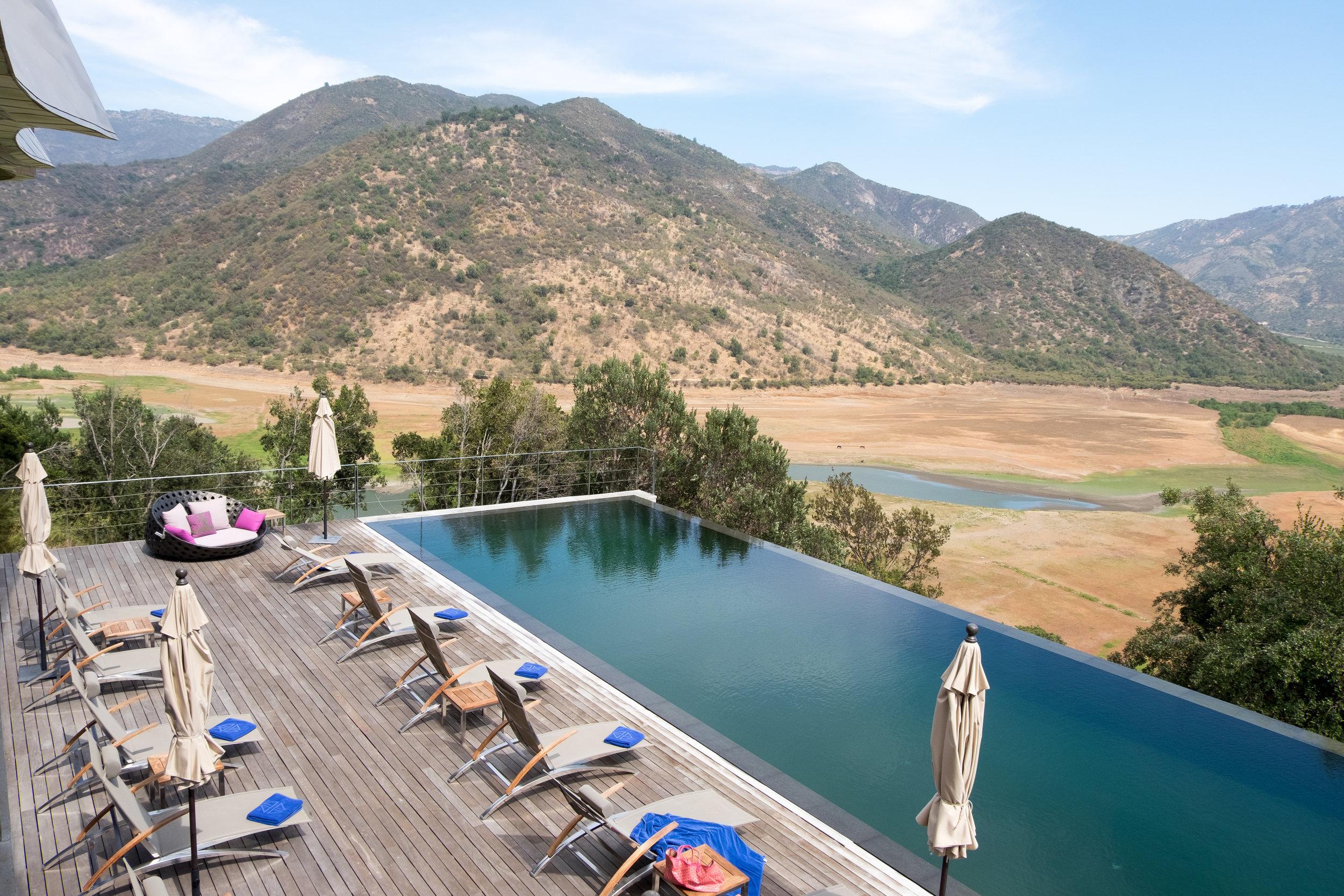 Viña Vik's    private  veranda and pool