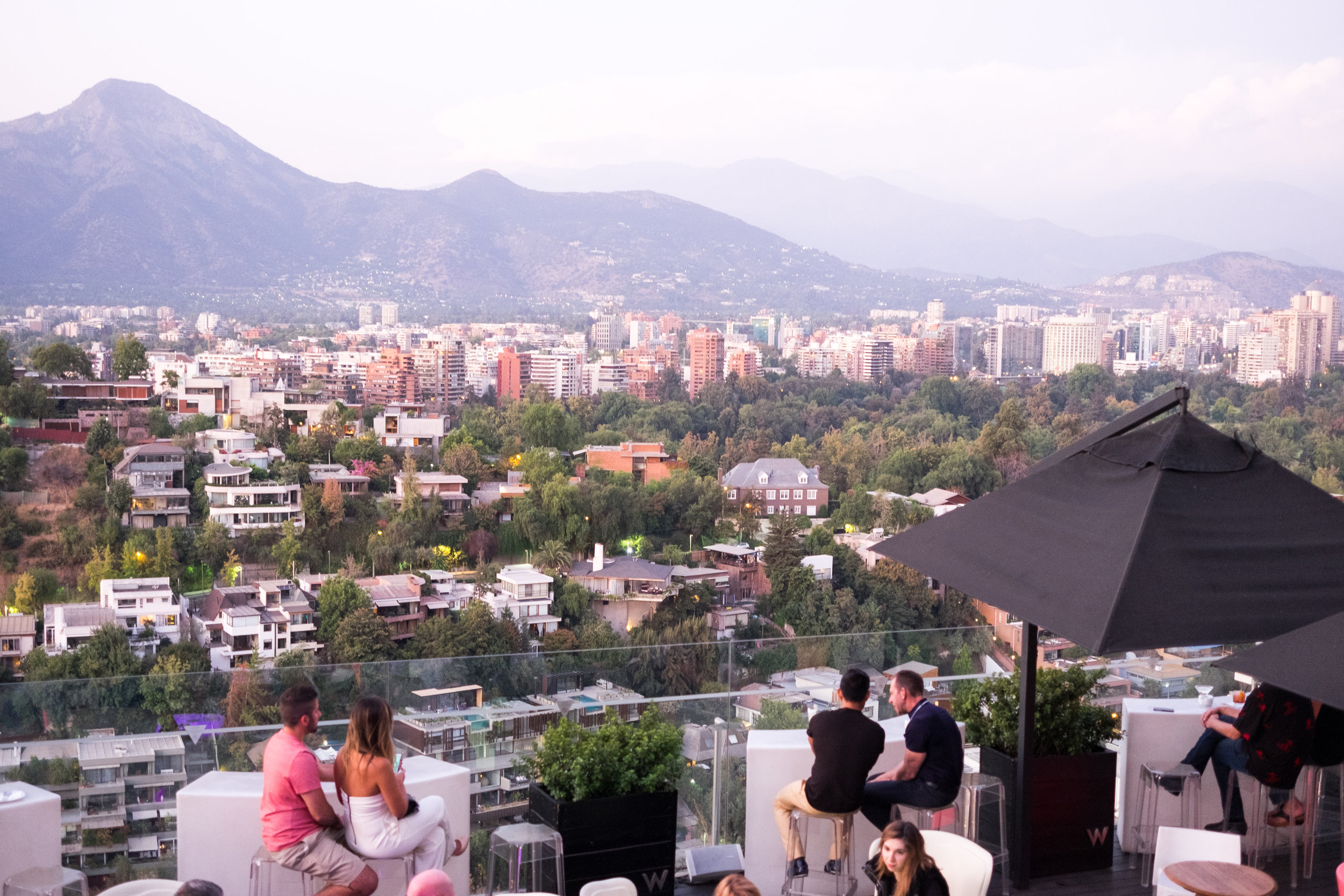 The rooftop bar at the W hotel