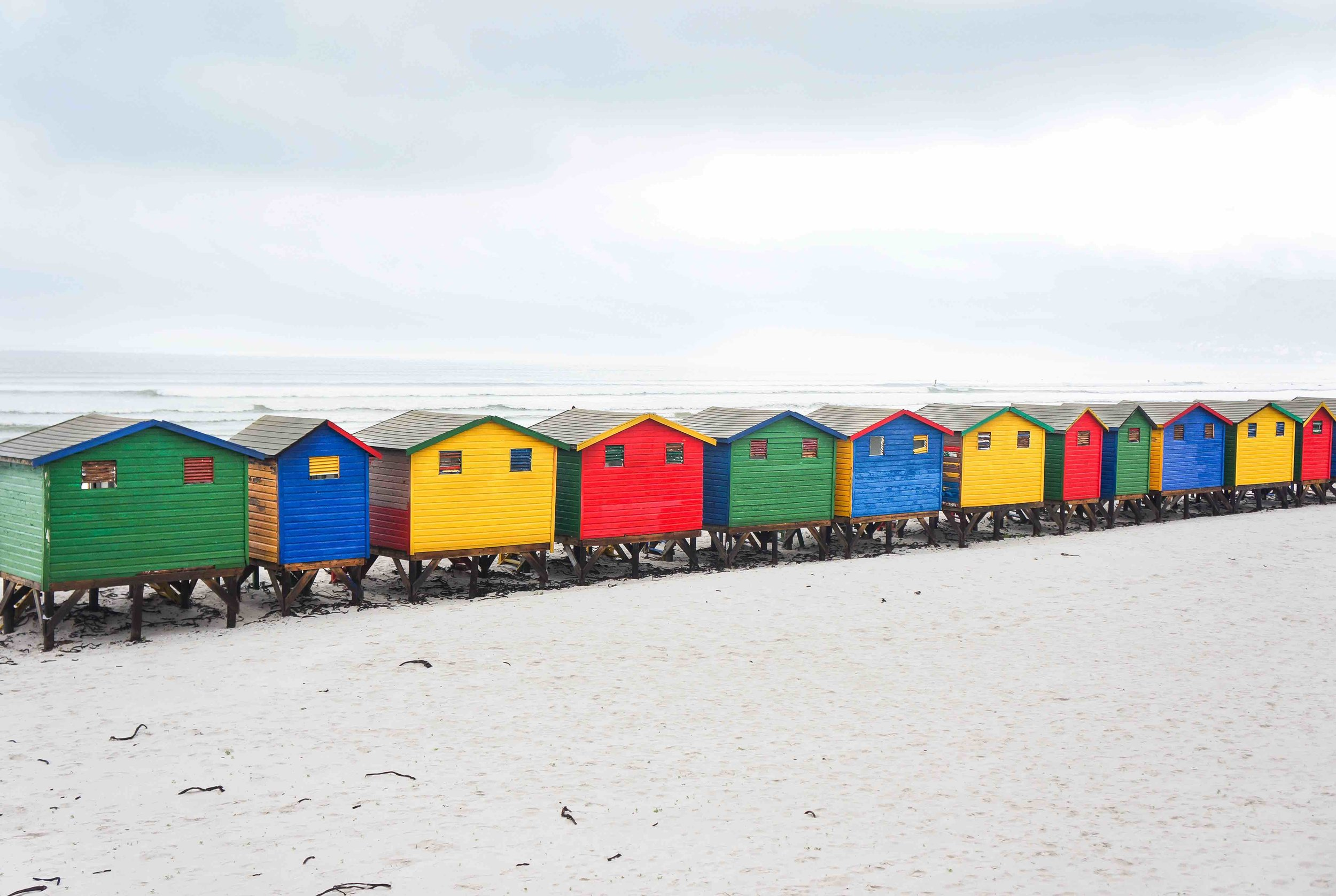 Beach huts @ Muizenberg Beach