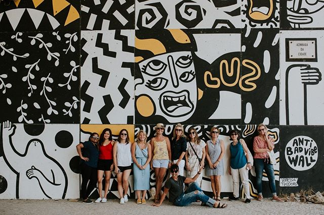 Our Portugal group trip kicks off today and we are SO EXCITED to meet the amazing women traveling with us this week. Follow along in our stories!⁠ #wildterrainsportugal⁠ ------------------------------------⁠ @wildterrains is a women-fueled travel company. We design awesome group trips that connect like-minded women around the world and we partner with local, women-owned businesses wherever we go.⁠ ------------------------------------⁠ 📷: @laurenlouisecollective⁠ #girlstrip #femmetravel #viajeras #wetravelgirls #ladiesgoneglobal #thetravelwomen #girlsthatwander #livingourbestlife #travelgirlsgetaways #lisbonlovers #ilovelisbon #explorelisbon #lisboa #discoverlisbon ⁠ #portugal #portugaltravel #visitportugal #portugaltrip #destinationeurope #iloveportugal #exploreportugal #portugalovers #artcrawl #streetart #graffiti #urbanart #graffitiart #streetarteverywhere