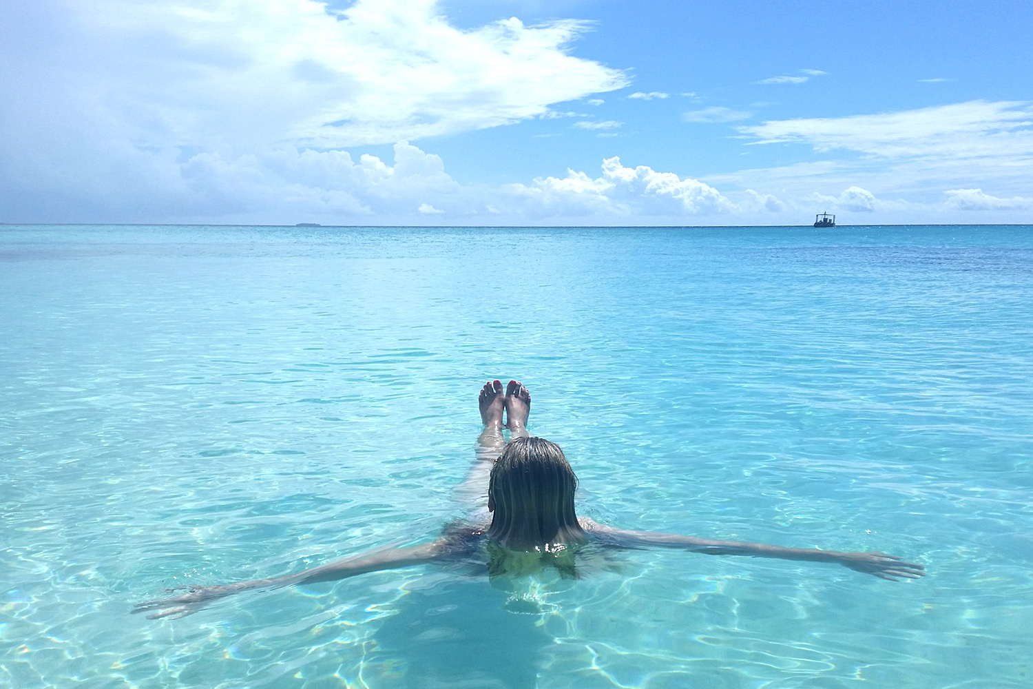 Swimming and Relaxing in The Maldives