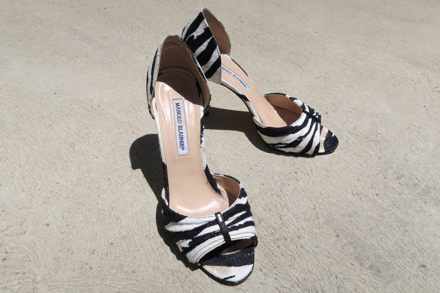 Zebra Black and White Manolo's from Sex and The City