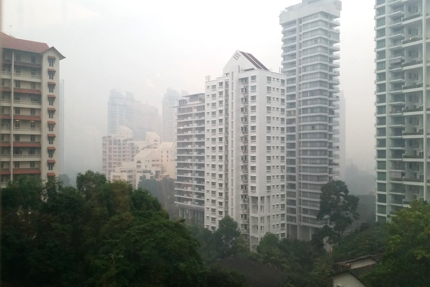 This is the yearly haze from Indonesia and at times it's worse than this!
