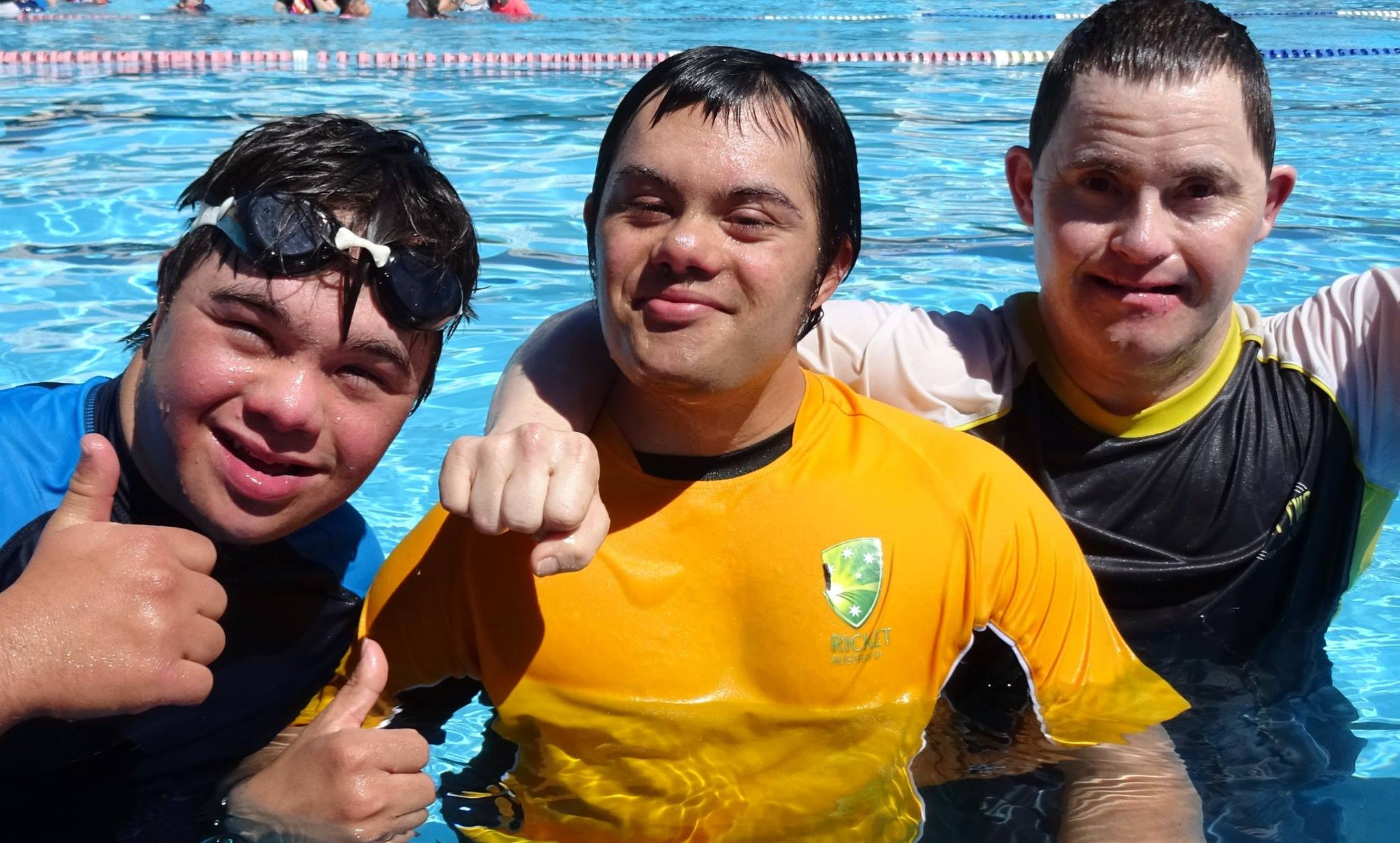 Say hi to Ross, Dion and Andrew. The pool has just reopened for the season and the guys were pretty happy to be back there today.