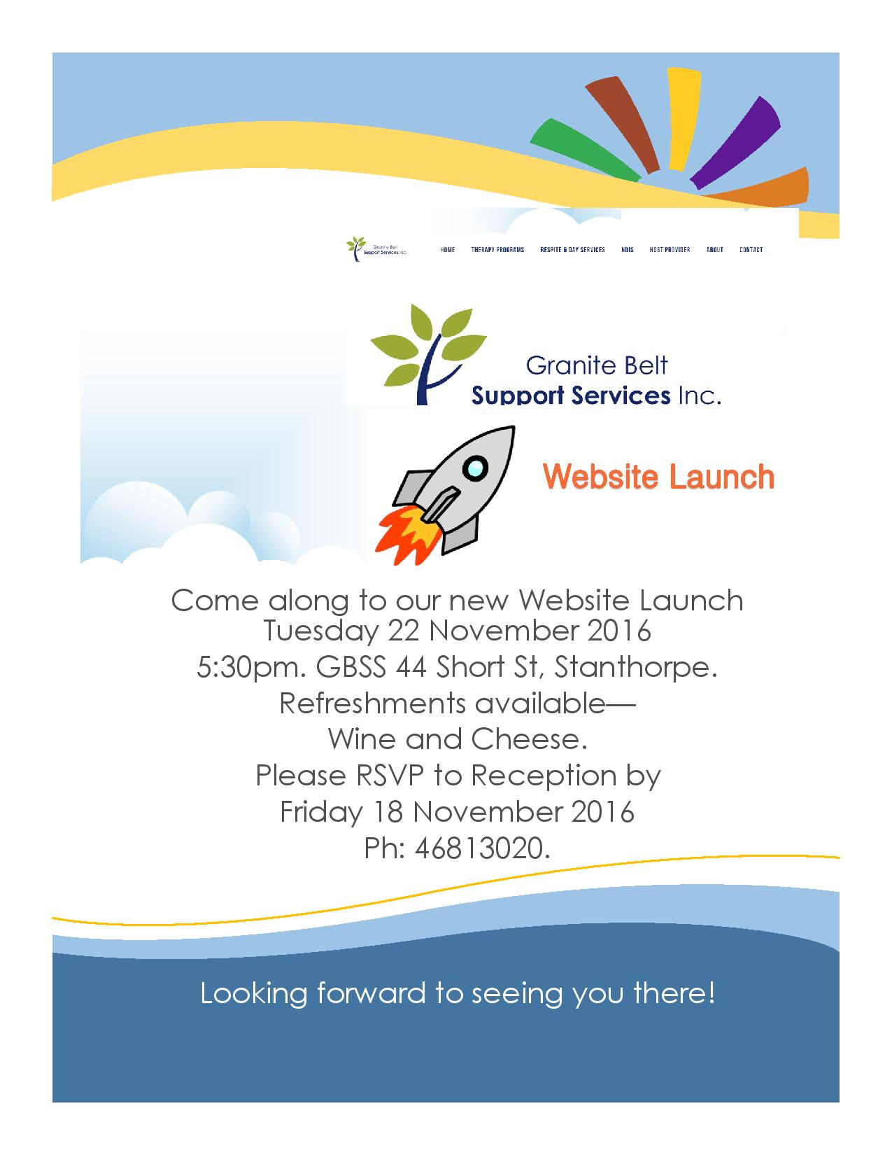 Come along to our website launch, 22 November 5:30pm