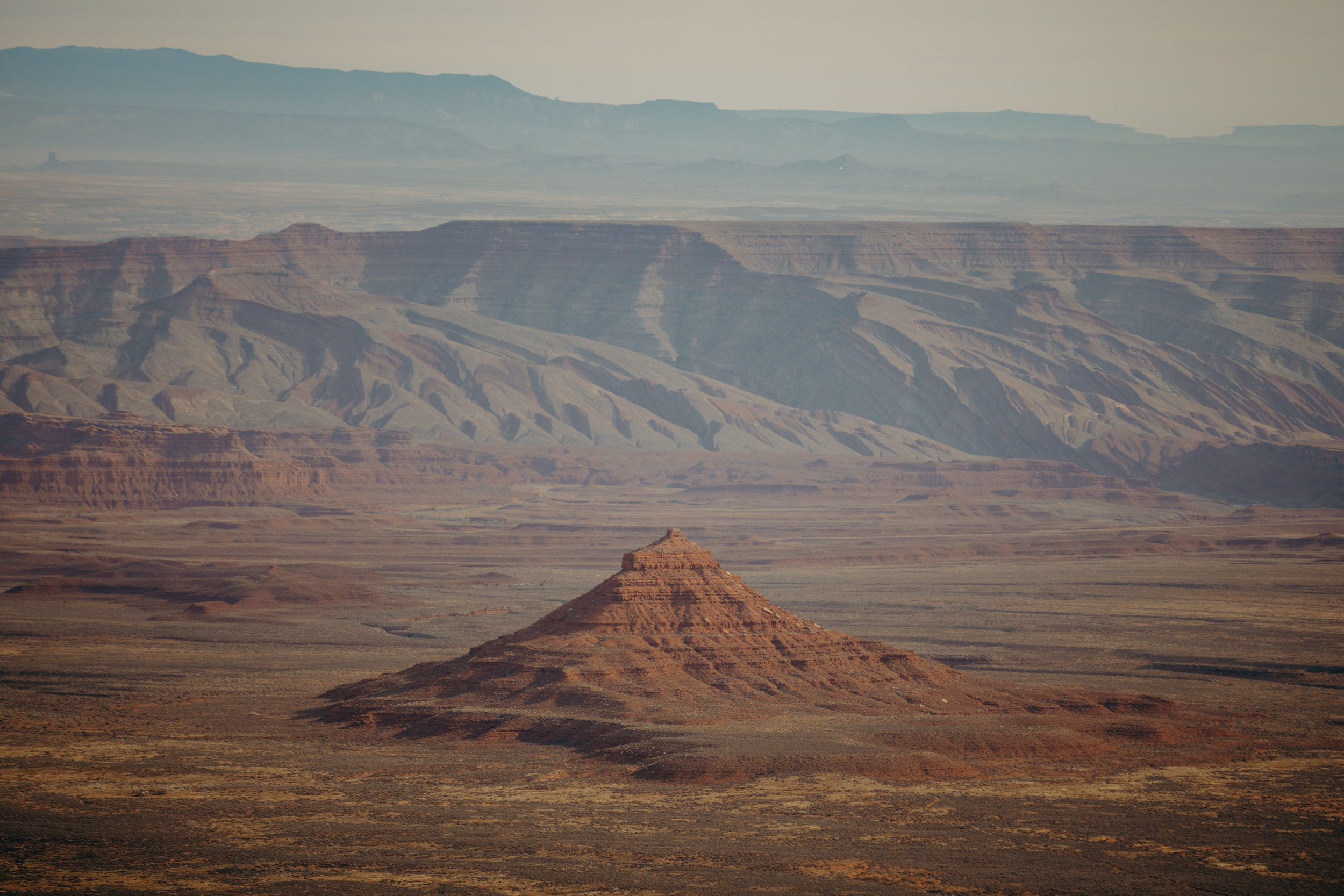 Above:  A grand shot from atop the Moki Dugway of the Valley of the Gods.