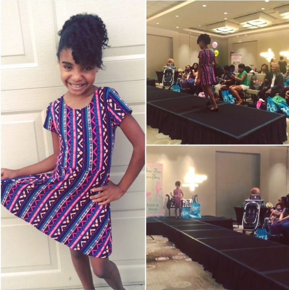 Saniya models on the runway for Here Kiddy Kiddie Clothing Boutique at the Baby Bash & Bling Expo Fashion Show,