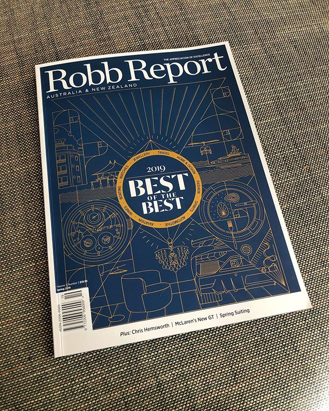 Proud to be part of @richardclune's first issue as @robbreportau Editor-in-Chief •  #BestoftheBest #RobbReport #Spring