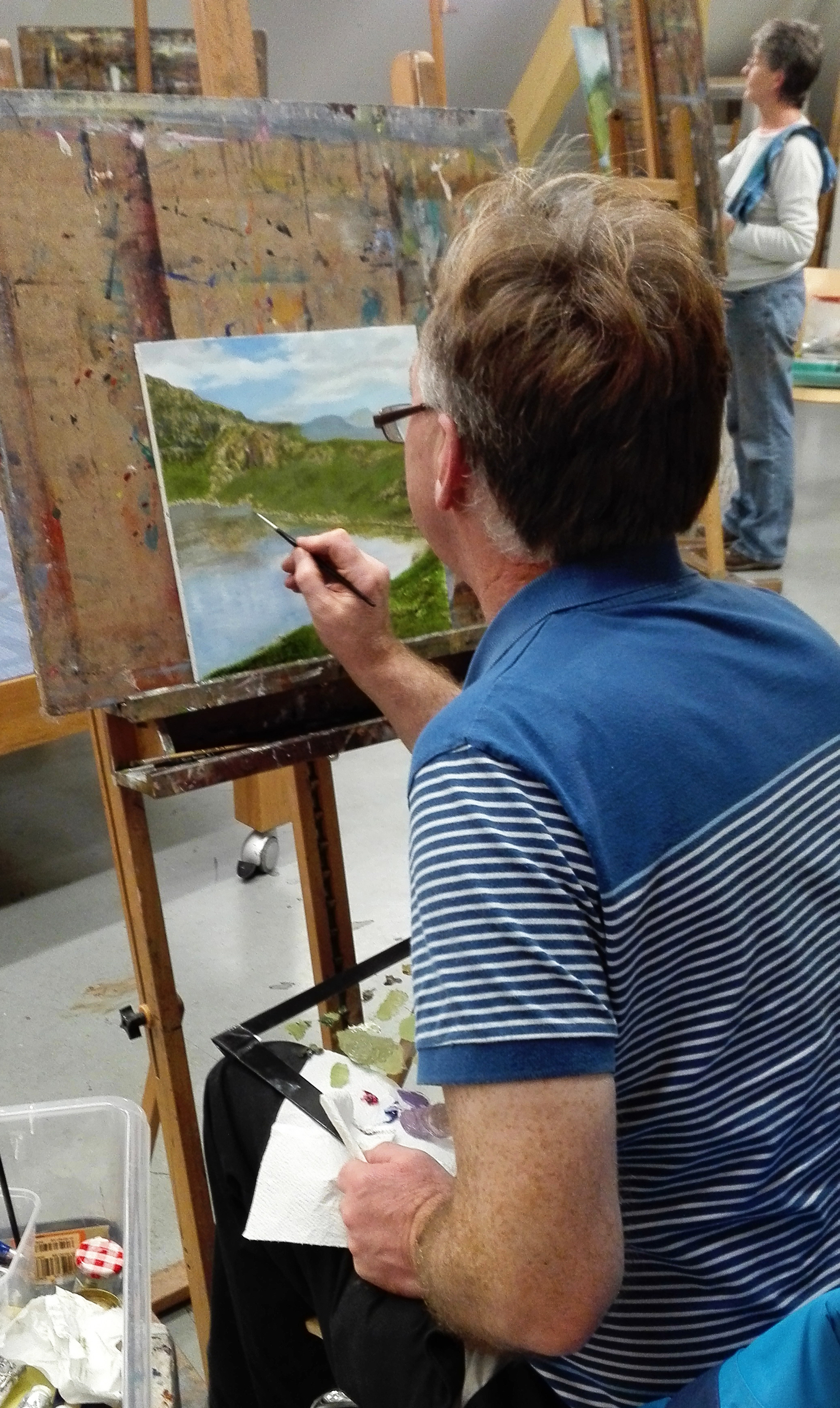 Painting Landscapes with Oils (Adults Beginners)