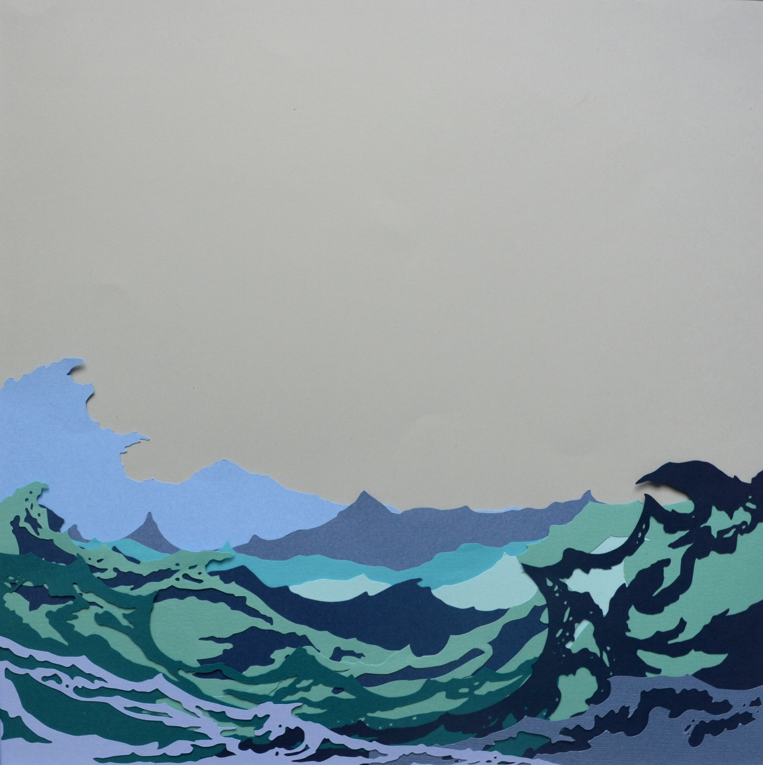 Donegal Waves   - 2017 - Layered Cut Paper - 50cm x 50cm