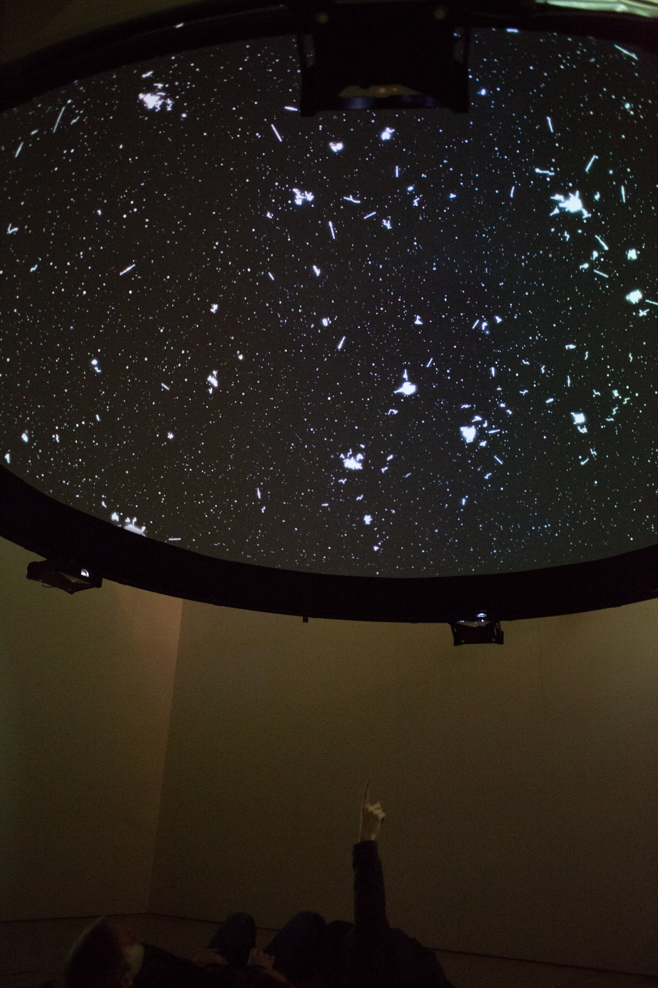 'Black Shoals: Dark Matter' - a stock market planetarium created by Lise Autogena and Joshua Portway, Big Bang Data exhibition, Somerset House, London. Photo by Joshua Portway, 2016