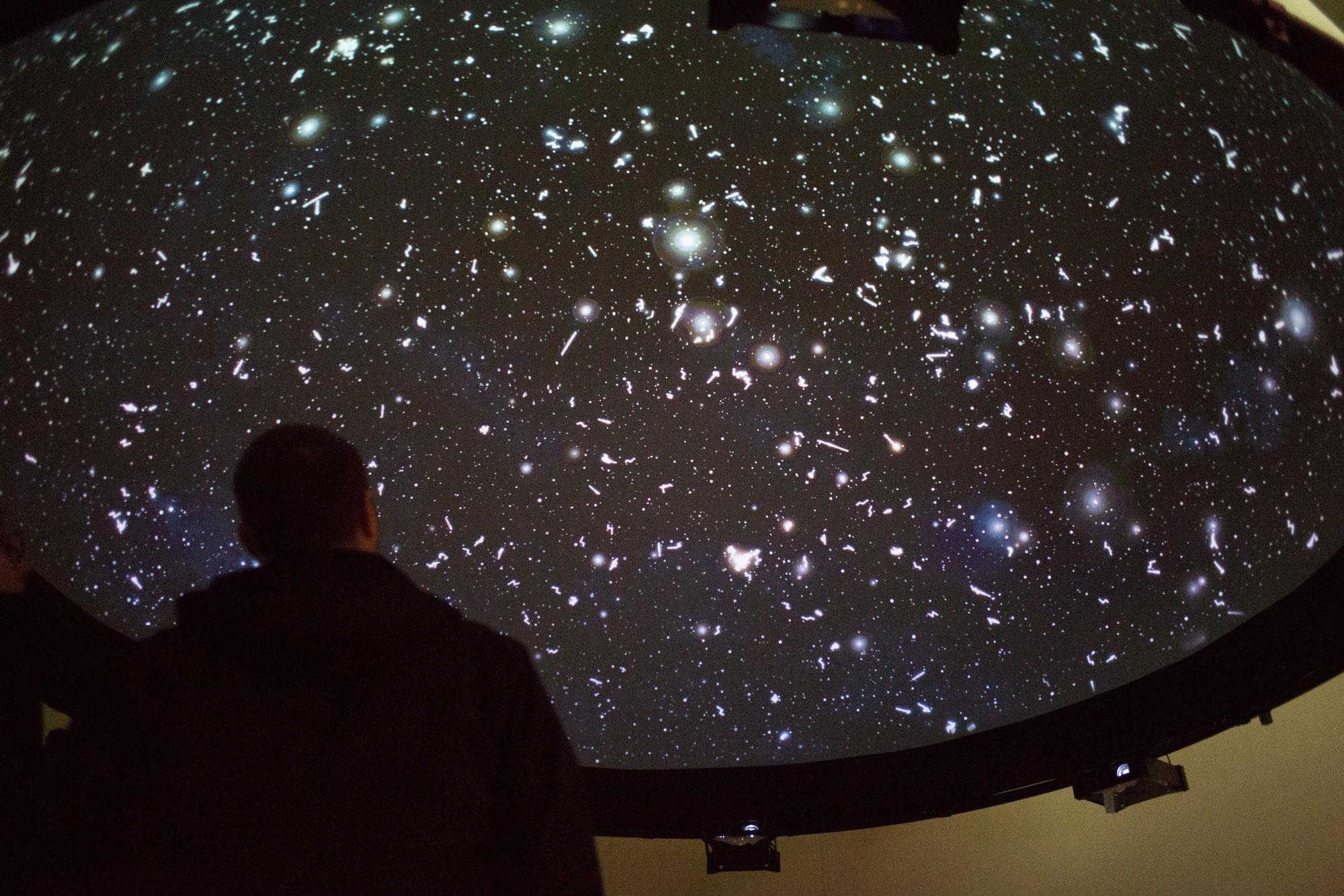 'Black Shoals: Dark Matter'- a stock market planetarium created by Lise Autogena and Joshua Portway, Big Bang Data  ,Somerset House,London, 2016.Photo by Joshua Portway