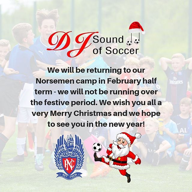 ⚠️ UPDATE ⚠️ • We won't be running our Norsemen camp over the Xmas period. We will return February half term. See you in the new year 👍⚽️🎵