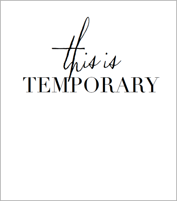 This is Temporary Free Printable