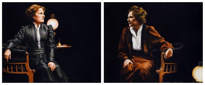 Deborah Finlay and Penelope Wilton, John Gabriel Borkman. Oil, 51 x 81.jpg