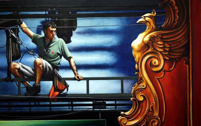 Rain Man, Apollo, oil, 63.5 x x 100.jpg