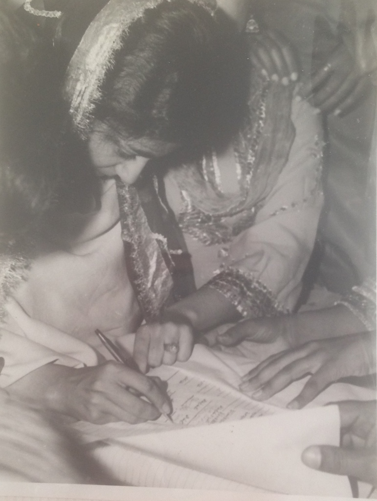 Nikah: signing marriage contract