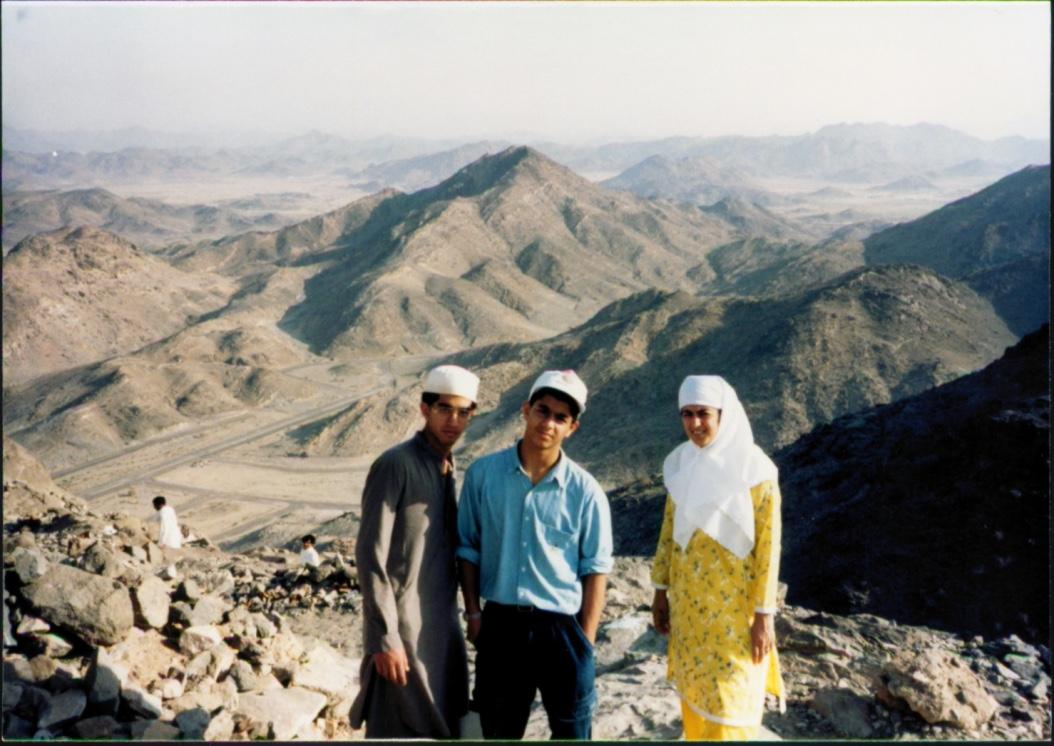 Umrah pilgrimage: climbing up Mt. Hira