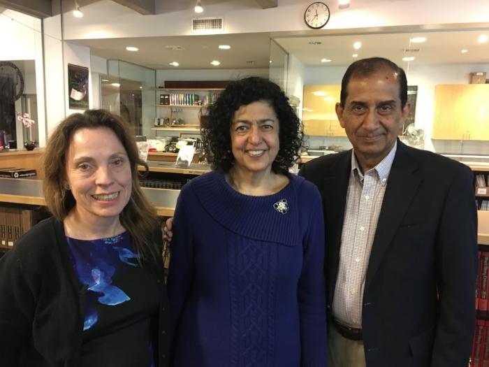 With Luz Marina Diaz and Khalid