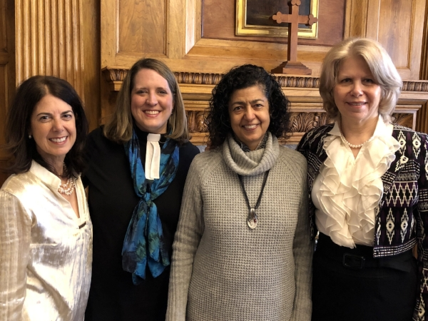 With Laila AlAskari, Rev. Rebekah Hutto, and Susan Powell