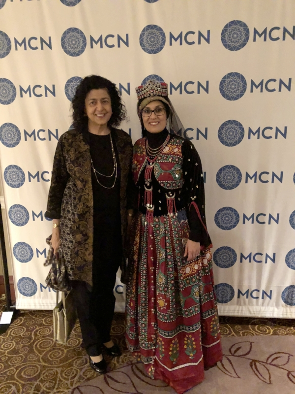 With Debbie Almontaser, Exec. Director, MCN in traditional Yemeni outfit