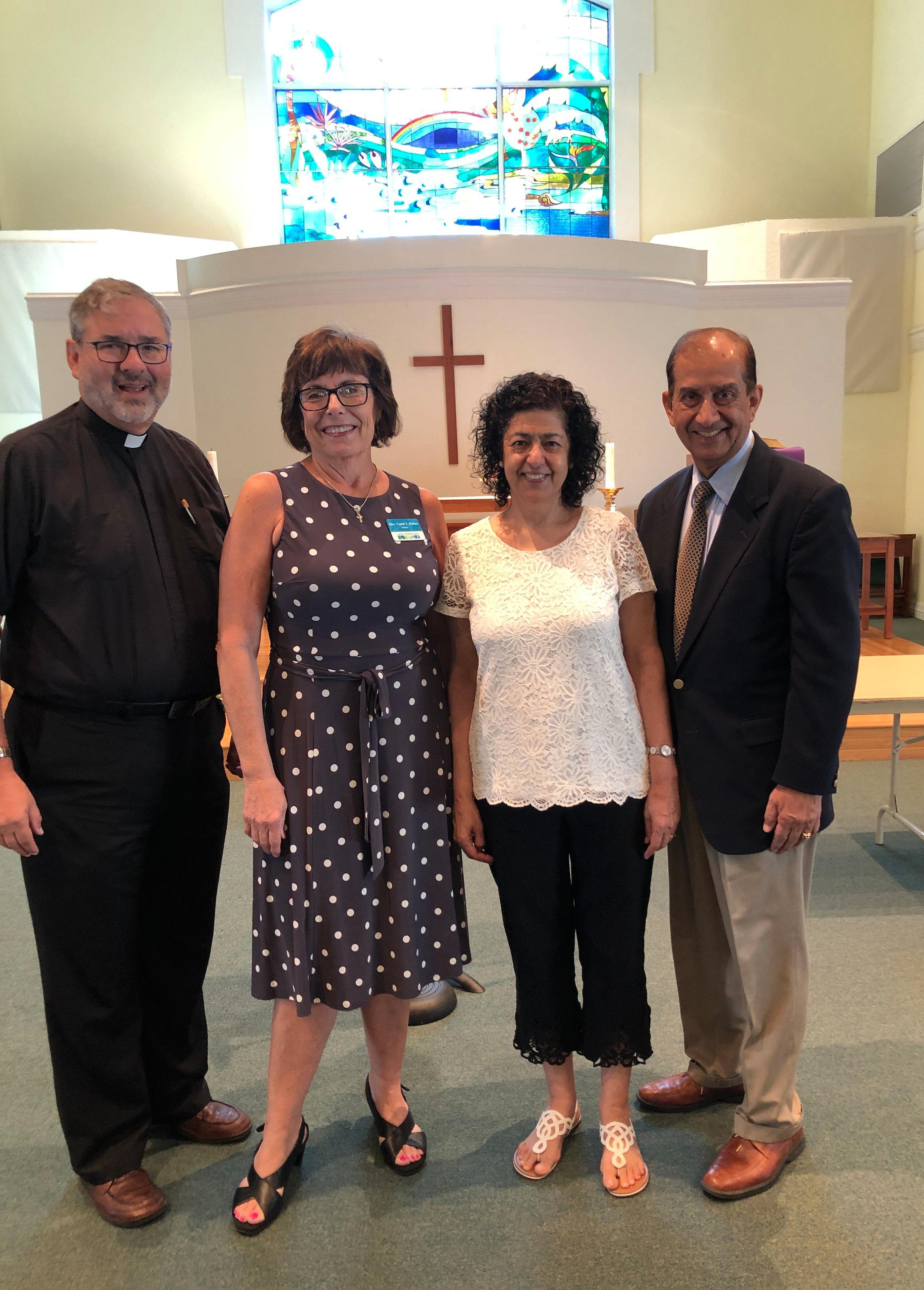 Pastor Walter Still, Rev. Carol Gates, & Khalid Rehman