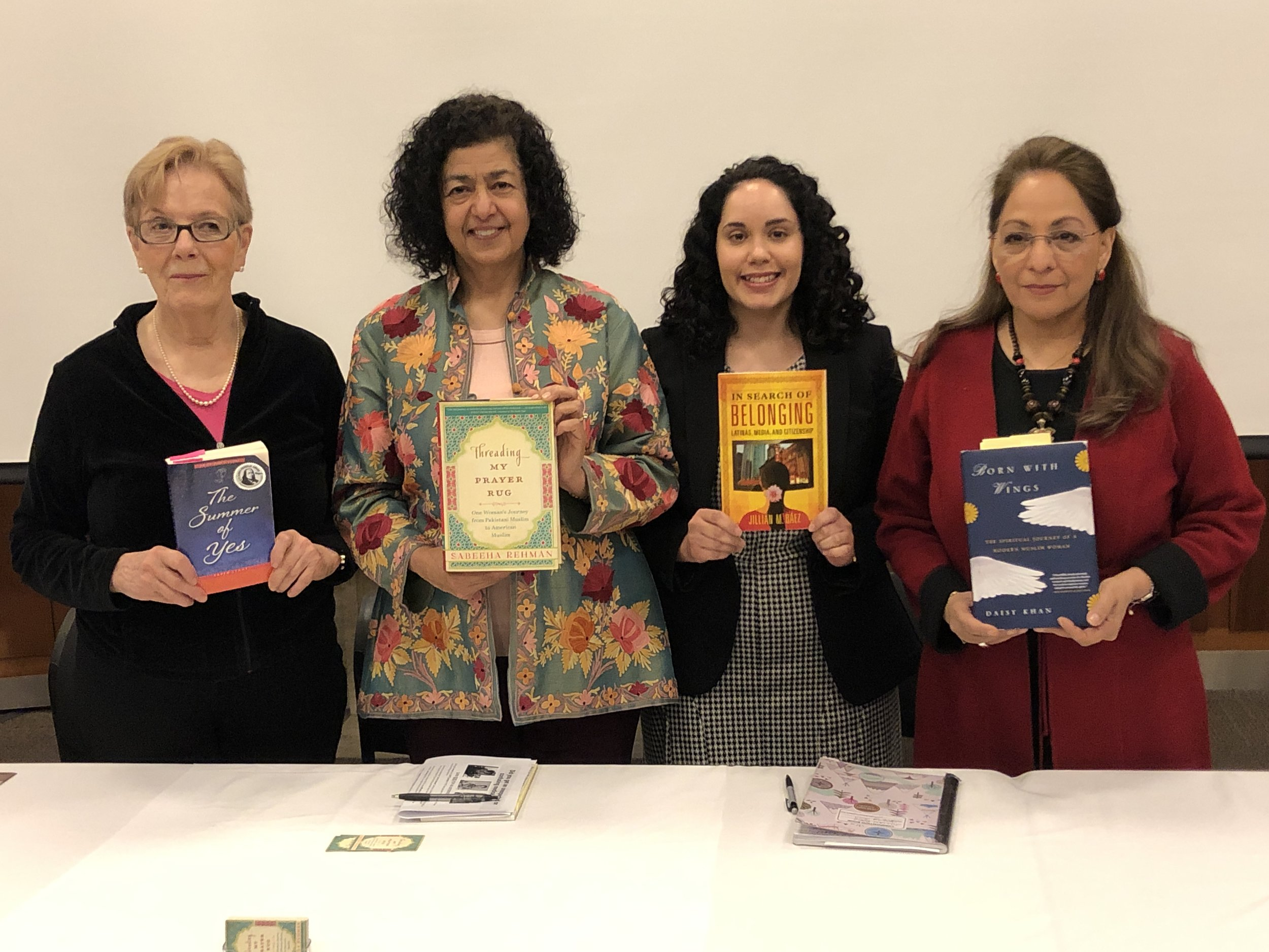 With Karen Leahy, Jillian Baez, and Daisy Khan