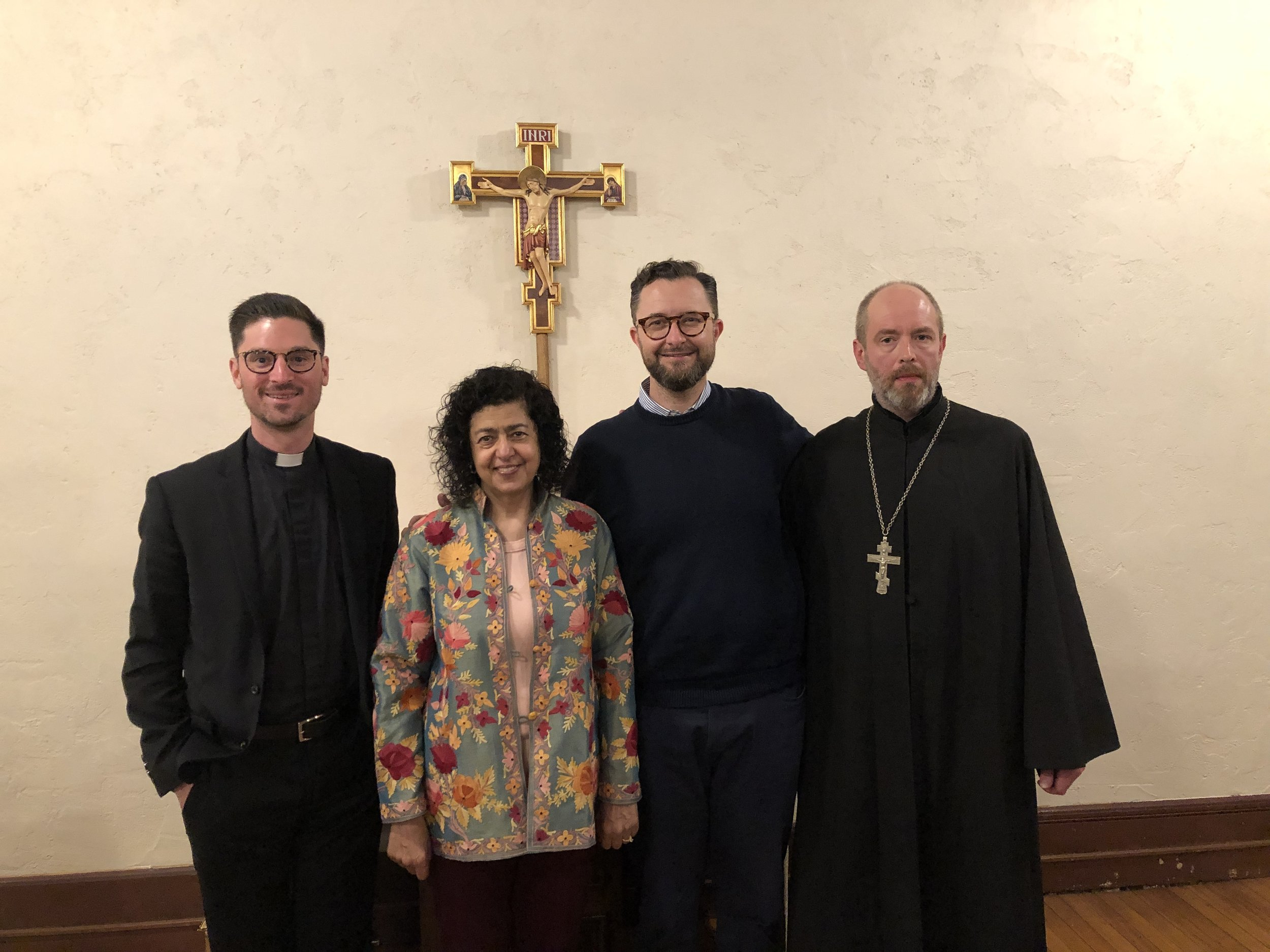 Rev. Zachary Thompson (St. James Episcopal church) Fr. Daniel Corrou (St. Francis Xavier church) & The Rev. Dr. Sergey Trostyanskiy (St. Gregory the Theologian church)