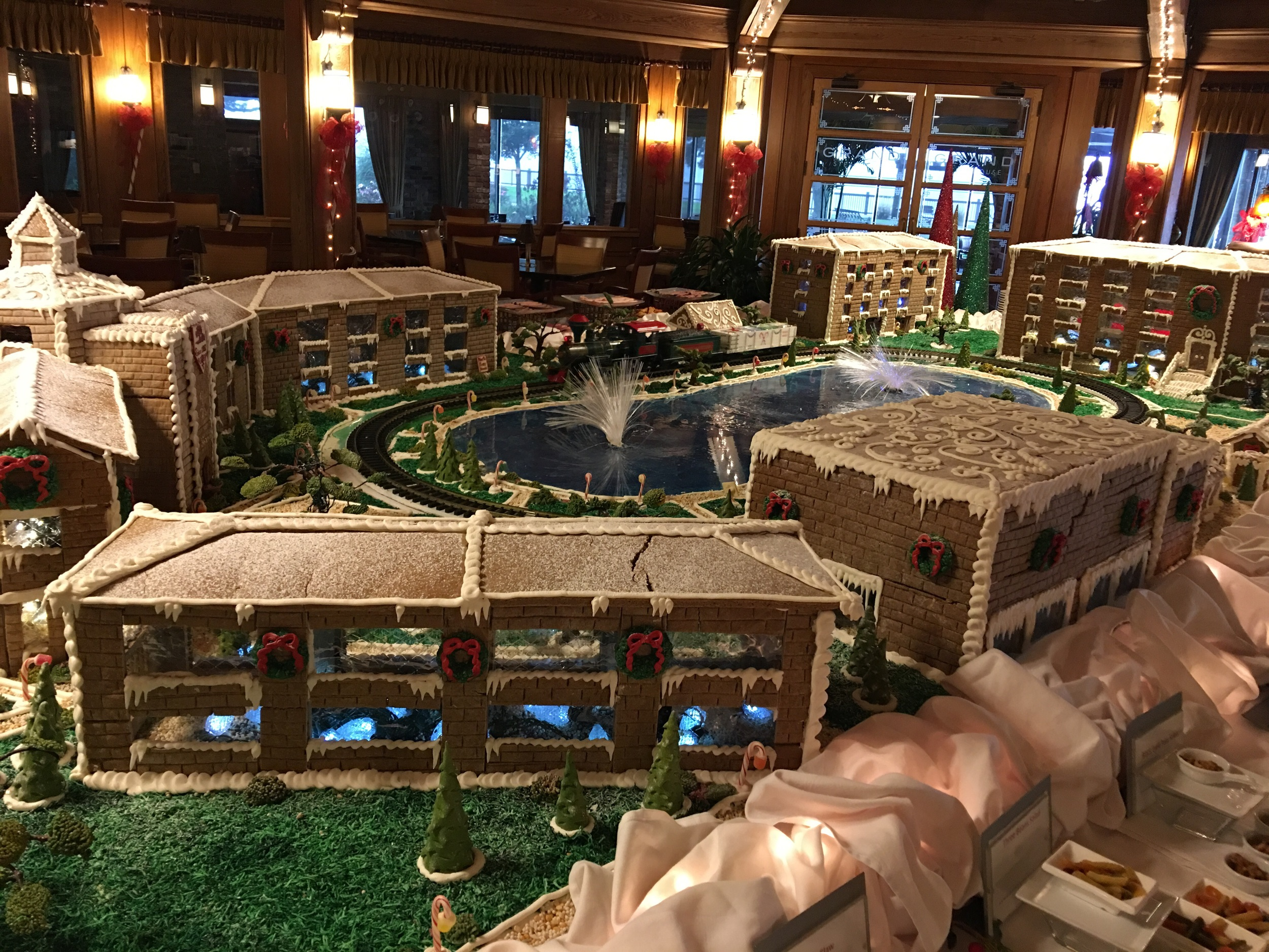 The hotel complex in gingerbread