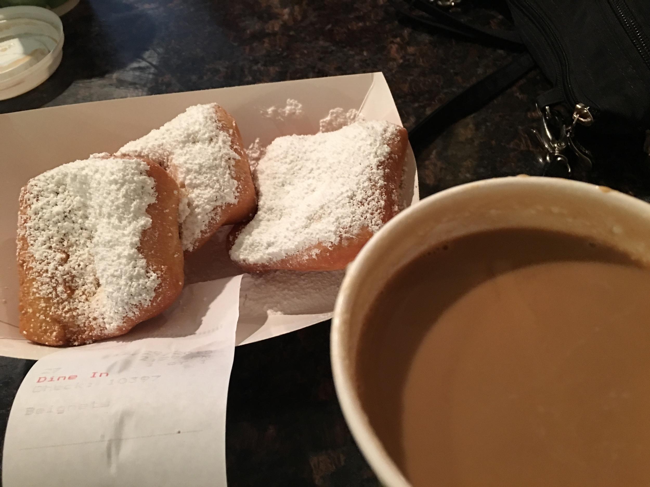 Cafe au lait and beignets!