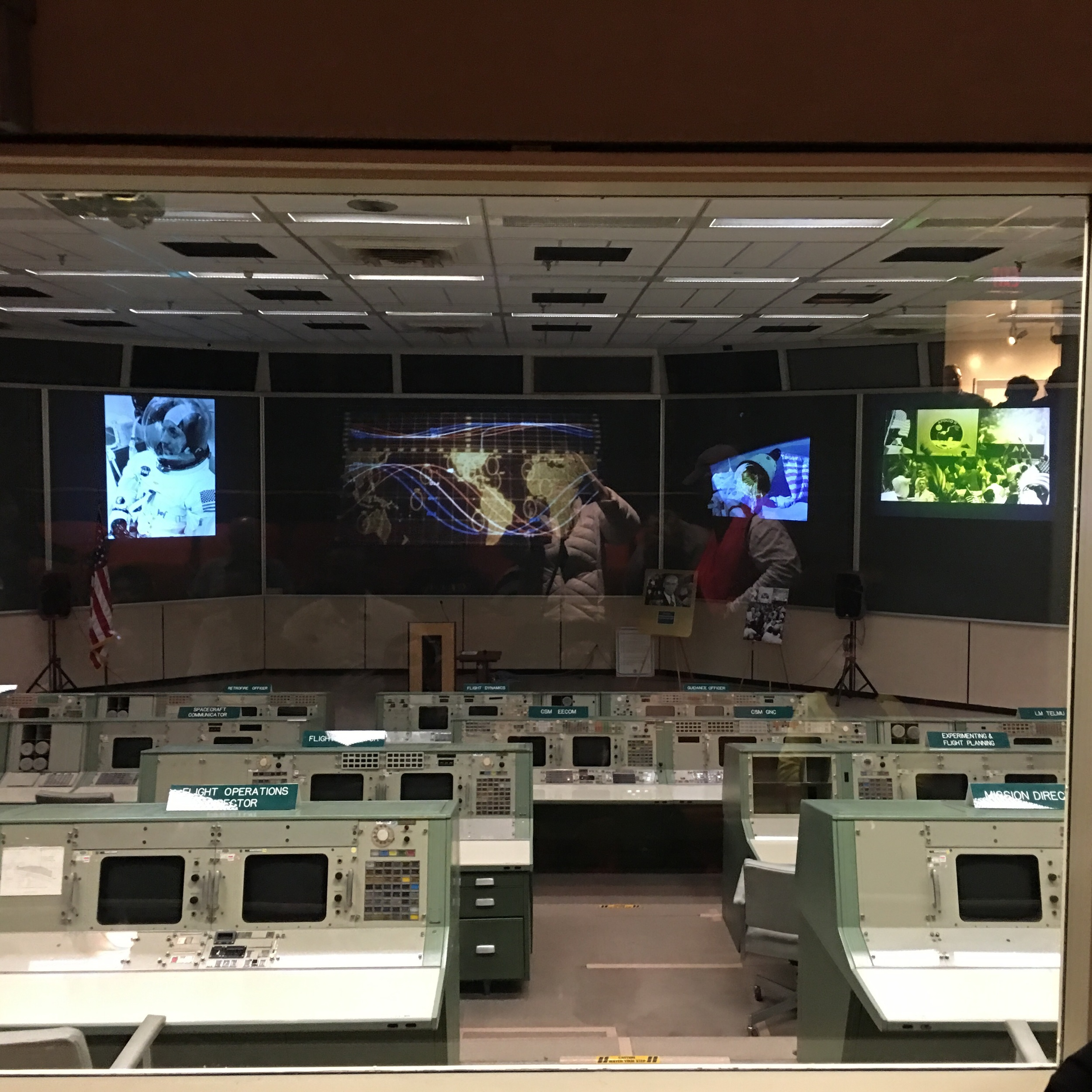 "50 years ago this was the actual ""mission control ""room. Today my cell phone has more computer power than they had collectively in this room. Still they managed to get the astronauts into space and back home again."