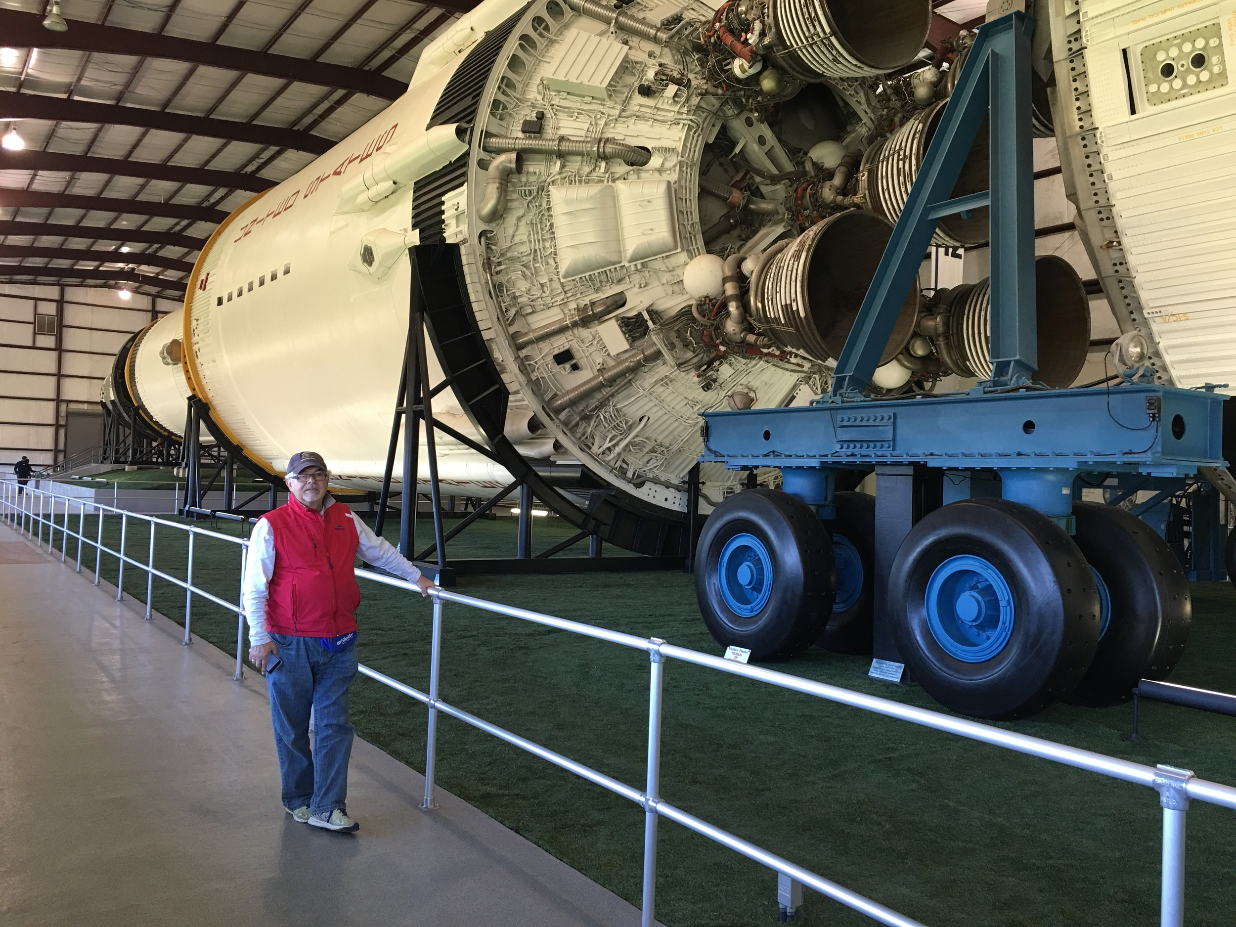 The Saturn 5 rocket is one of only 3 surviving vehicles built to launch American astronauts to the moon in the 60's and 70's. The size of the craft is unbelievable!