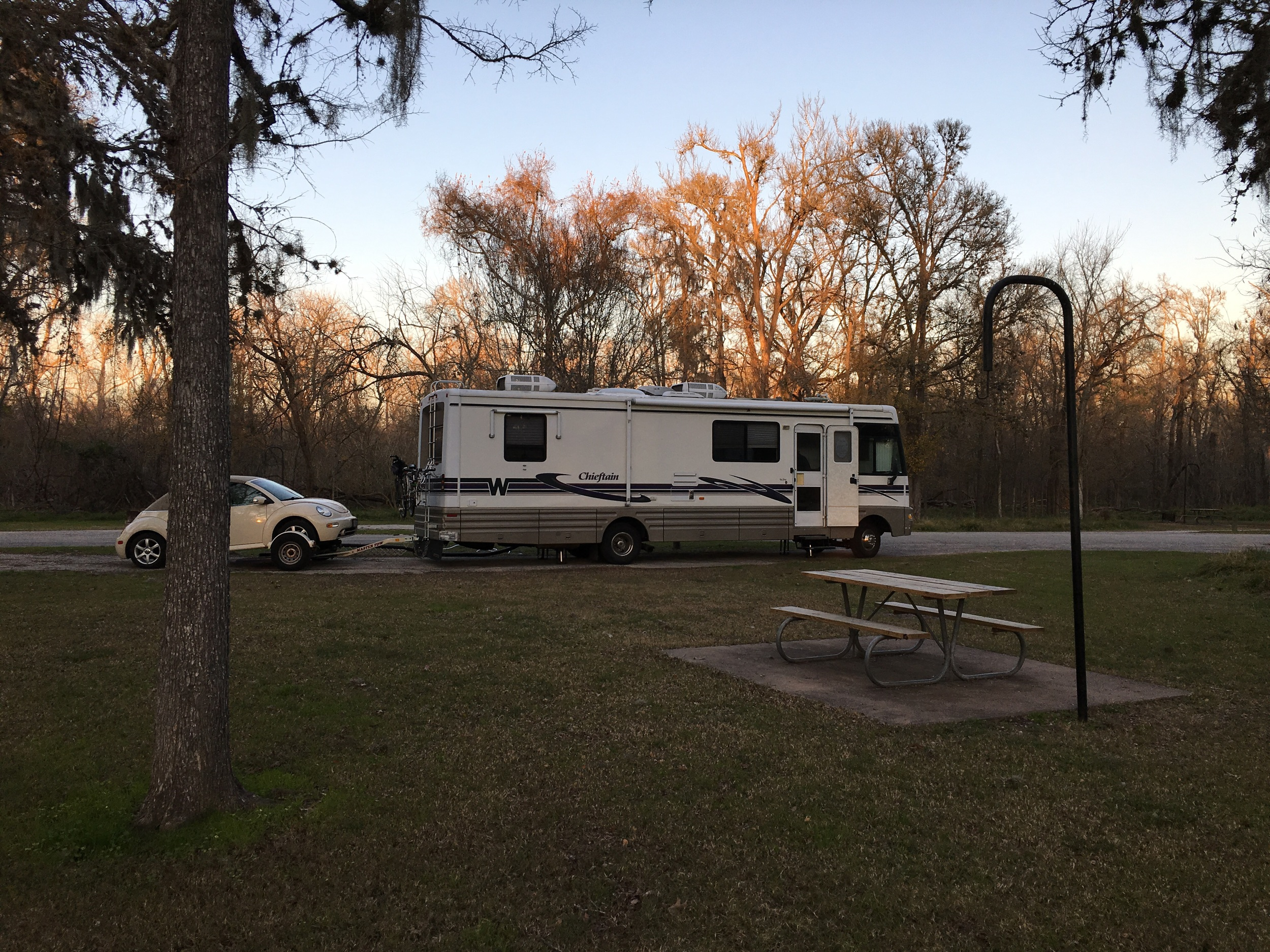 We are camped for the night at Steve Austin State park in San Felipe, Texas.