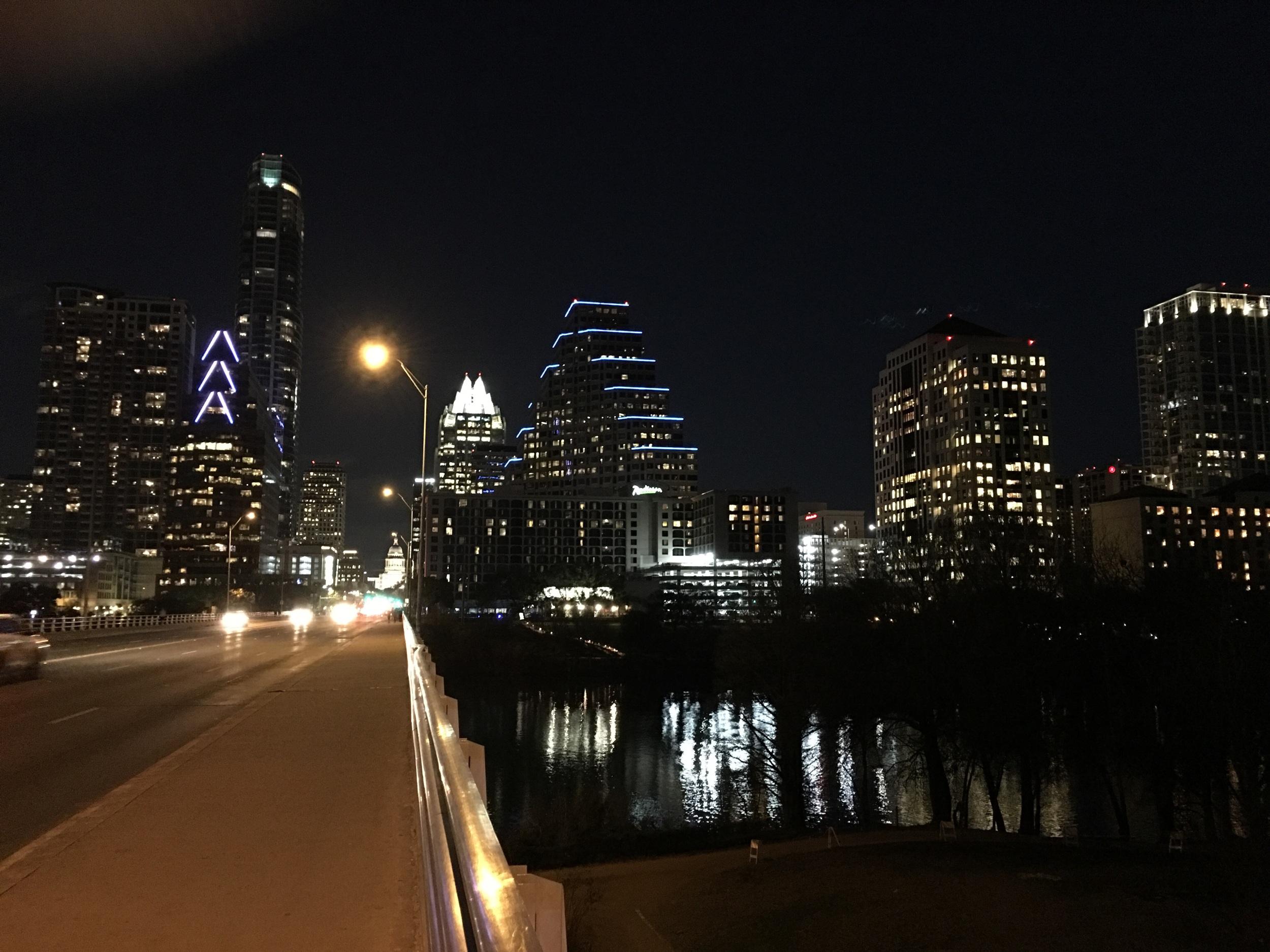 The Austin evening skyline