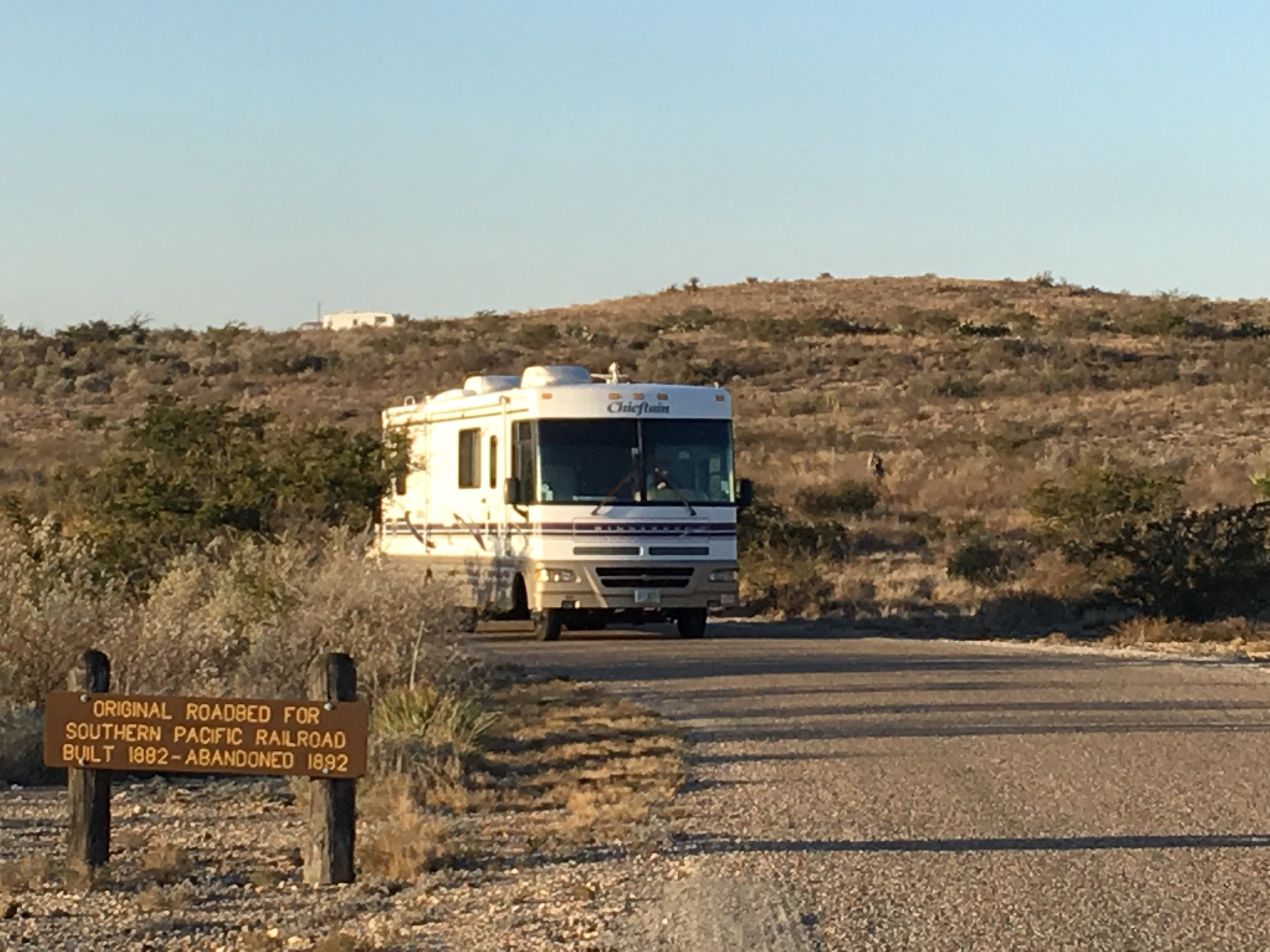 Early this morning we left Seminole Canyon and headed west; our destination for tonight is Balmorhea State Park.