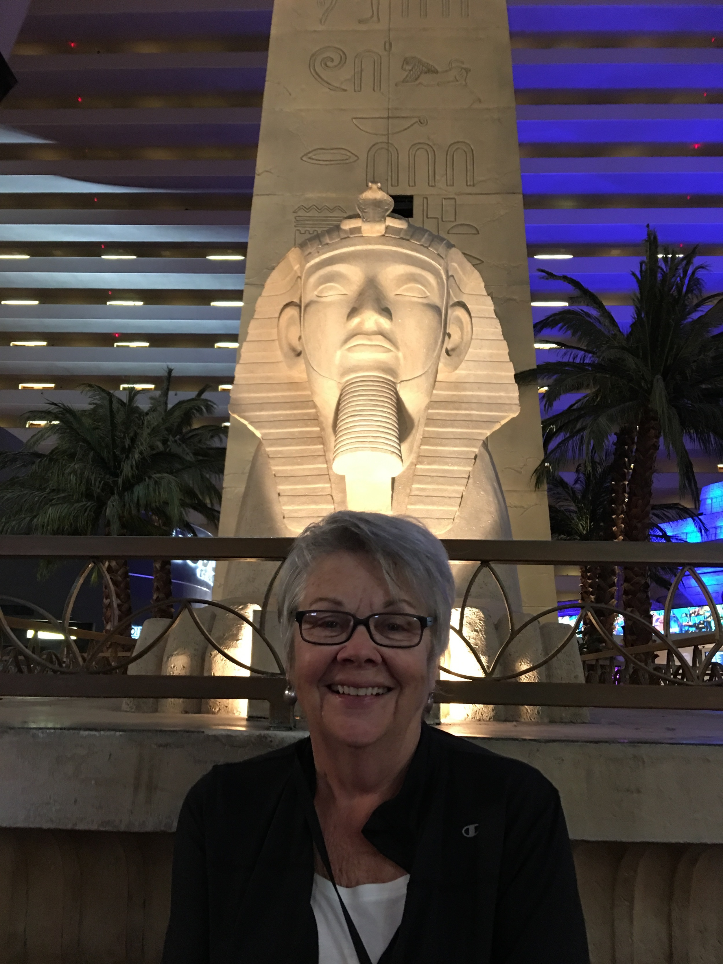 Barb at the Luxor