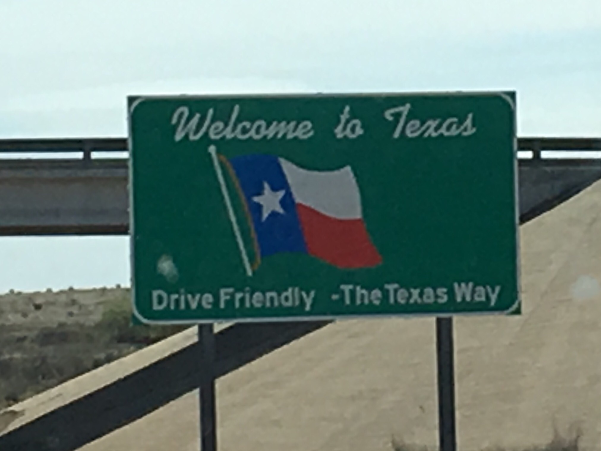 We crossed the Texas panhandle