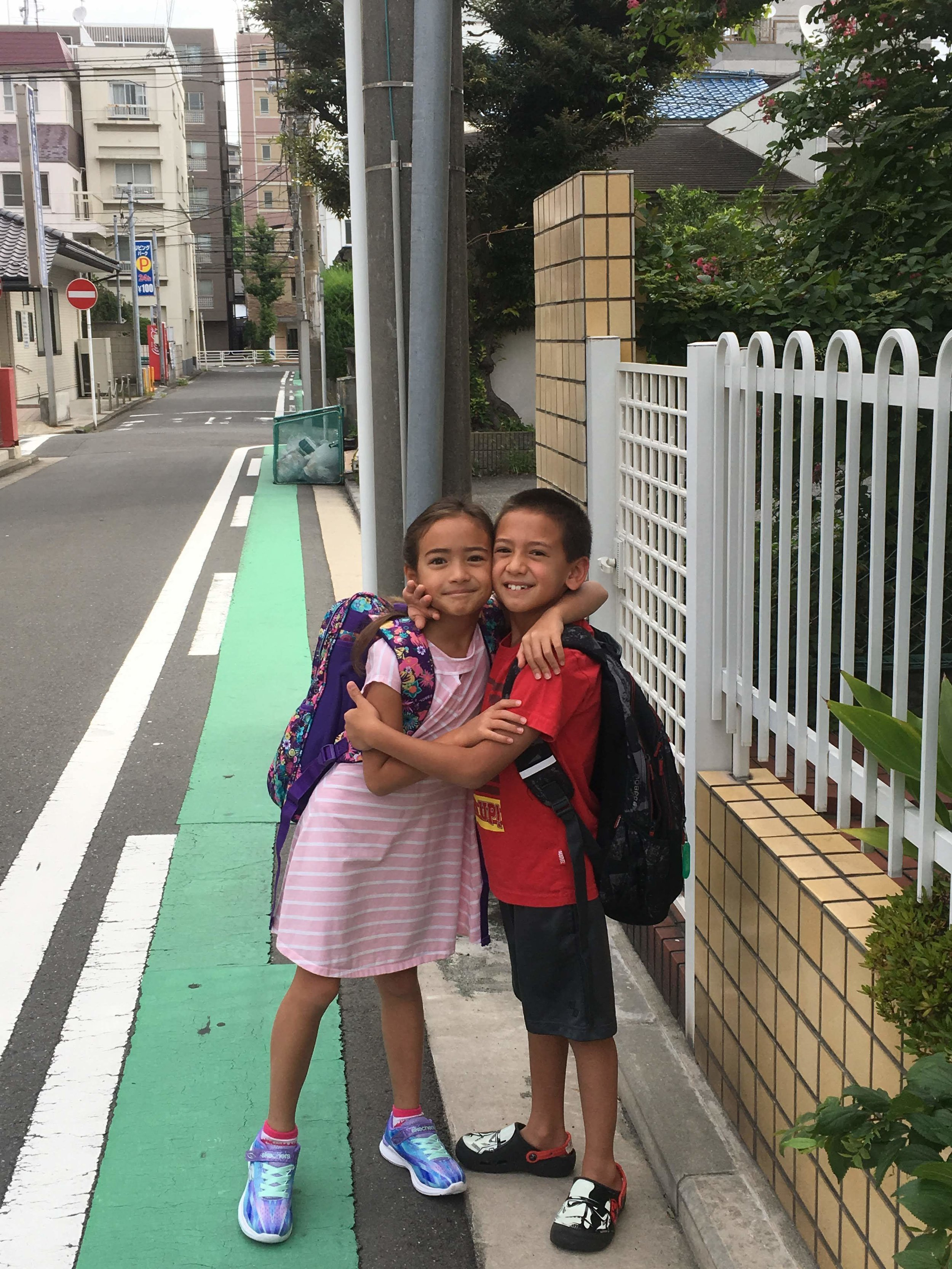 The kids' first day of school
