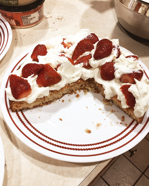 Tisha Bender - Strawberry Cream Cake - Recipe