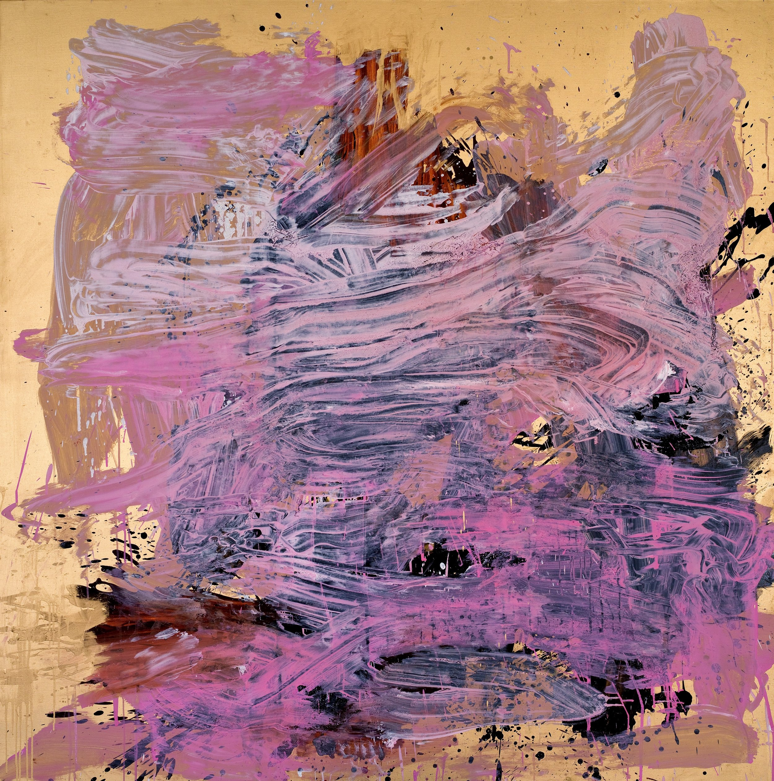"""""""Masculin/Féminin"""", 2013, 193x193cm, mixed media on canvas"""