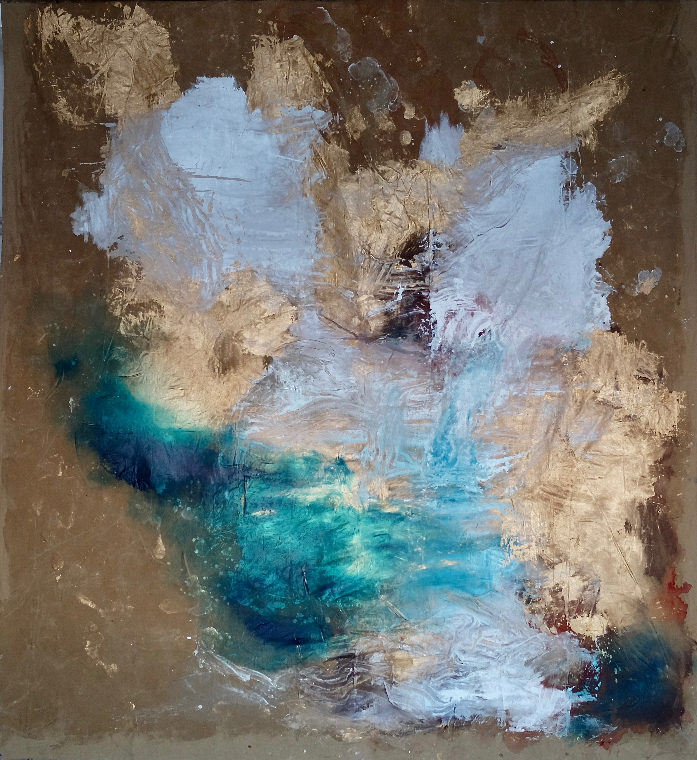 Février 2019, 310x270 cm, mixed medias on free linen canvas.